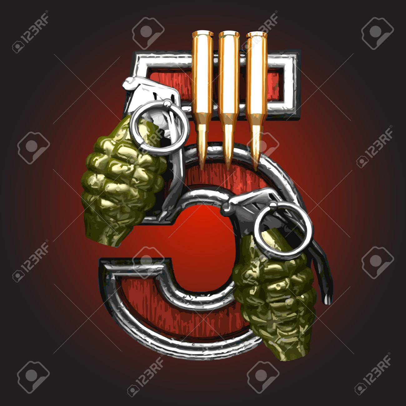 military figure made in vector Stock Vector - 14395730