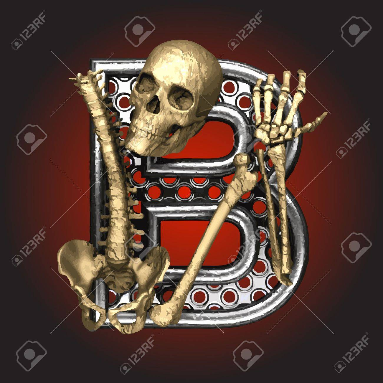 Metal figure with skeleton Stock Vector - 14483218