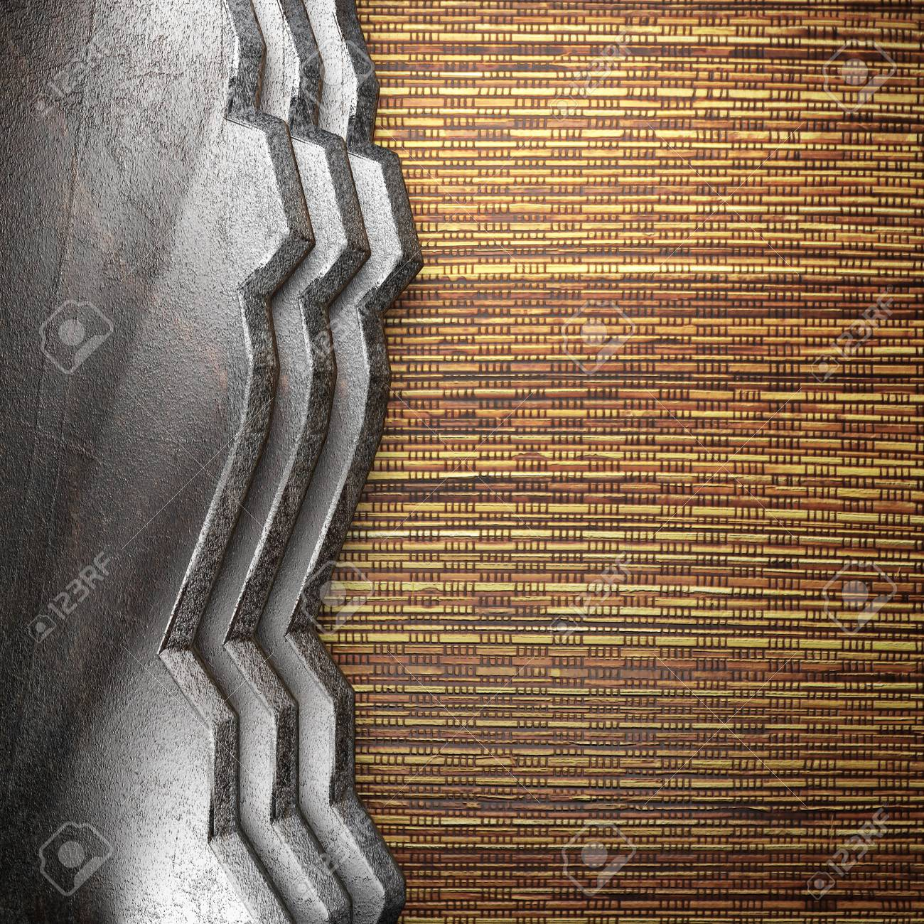 metal on wall made in 3d Stock Photo - 16642147