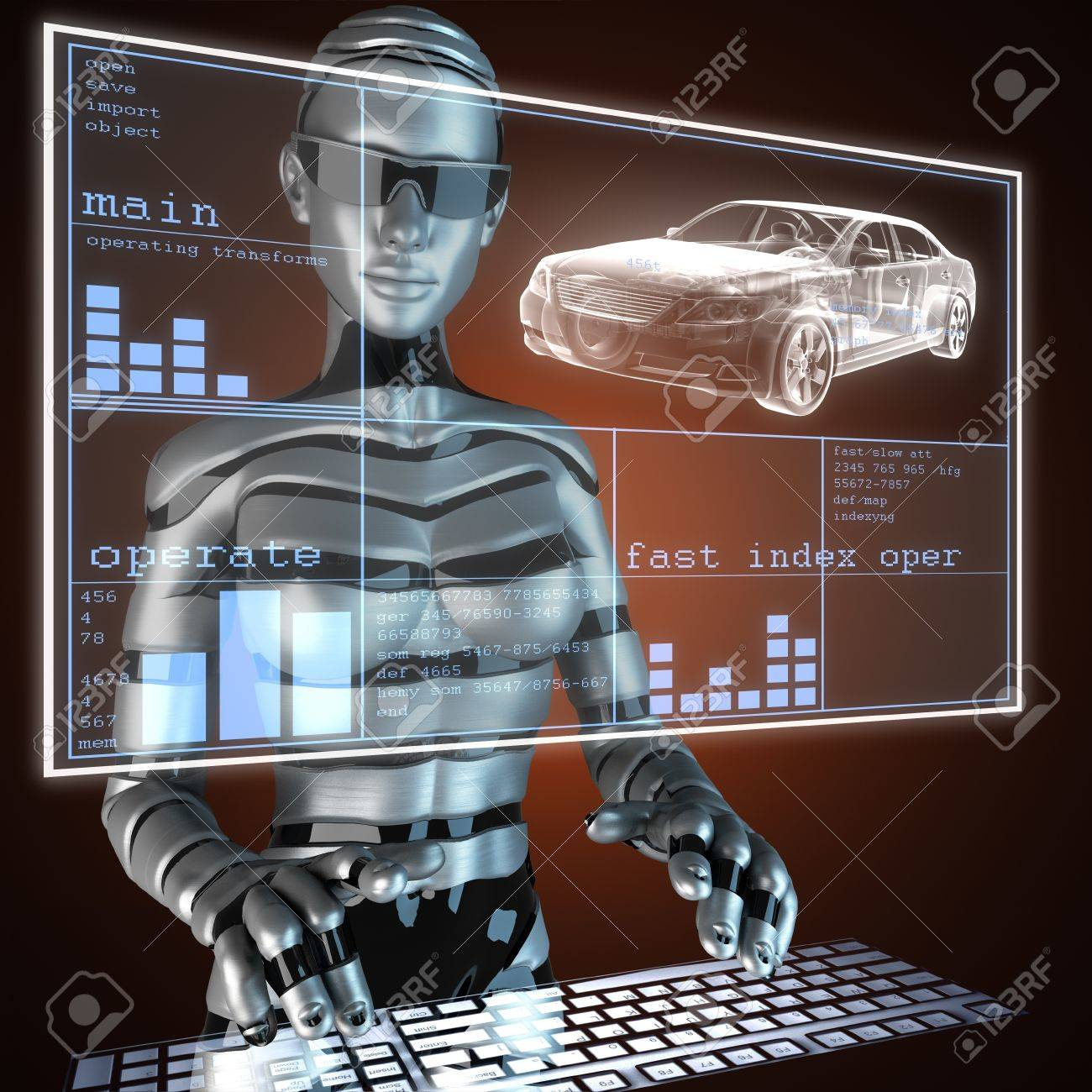 transparent car concept on LED Stock Photo - 17594312