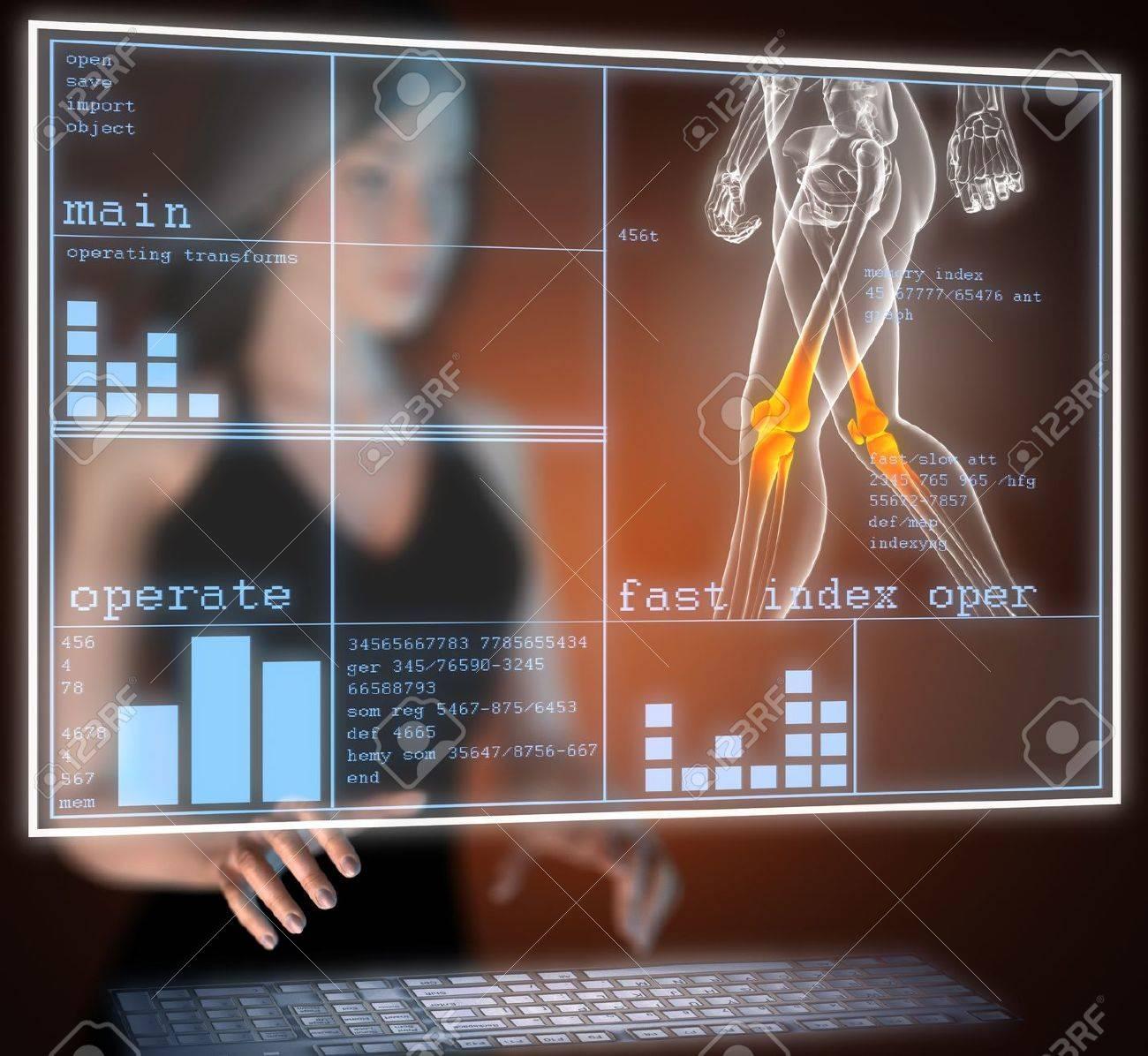 human radiography scan on hologram - 17645192