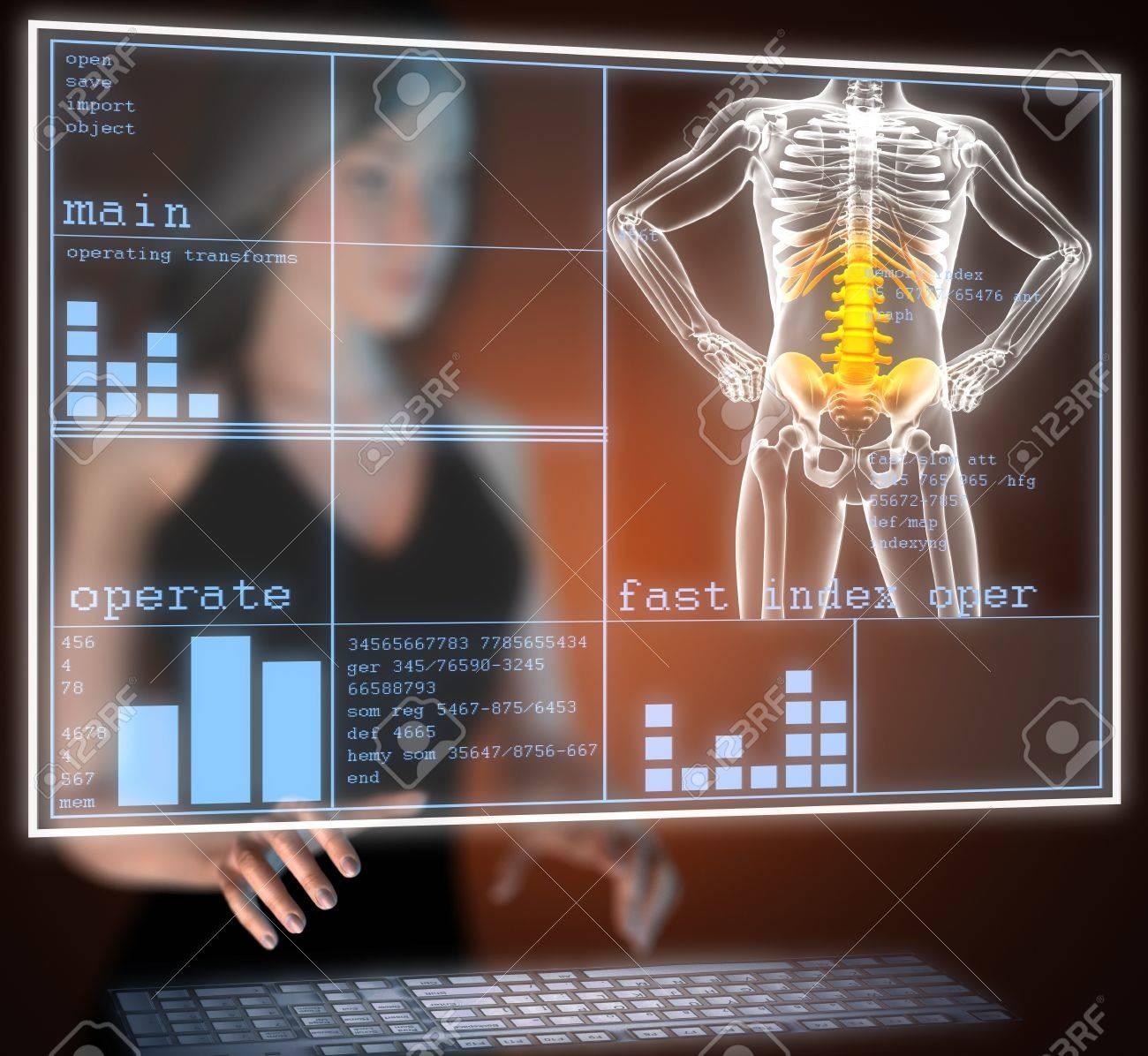 human radiography scan on hologram - 17645194