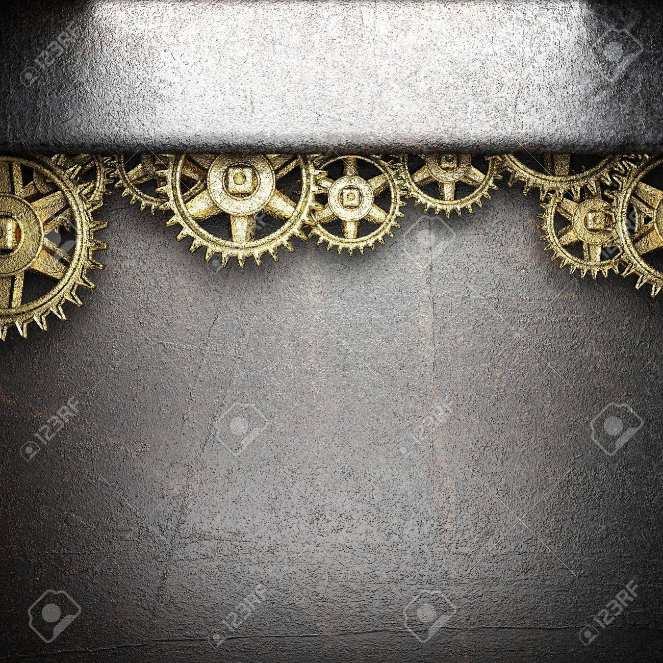 gear wheels on steel background - 18390706
