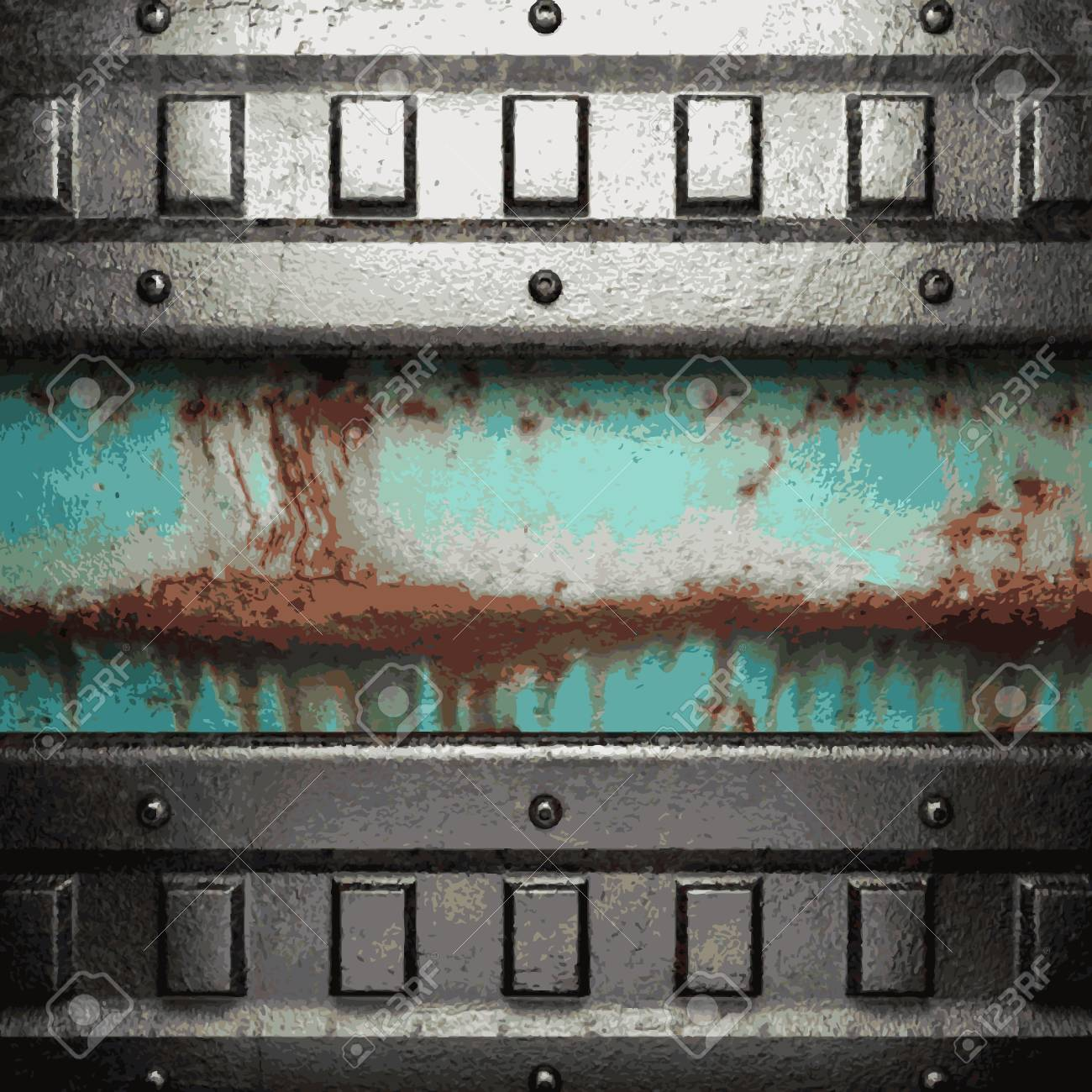 Old metal background Stock Vector - 20890486