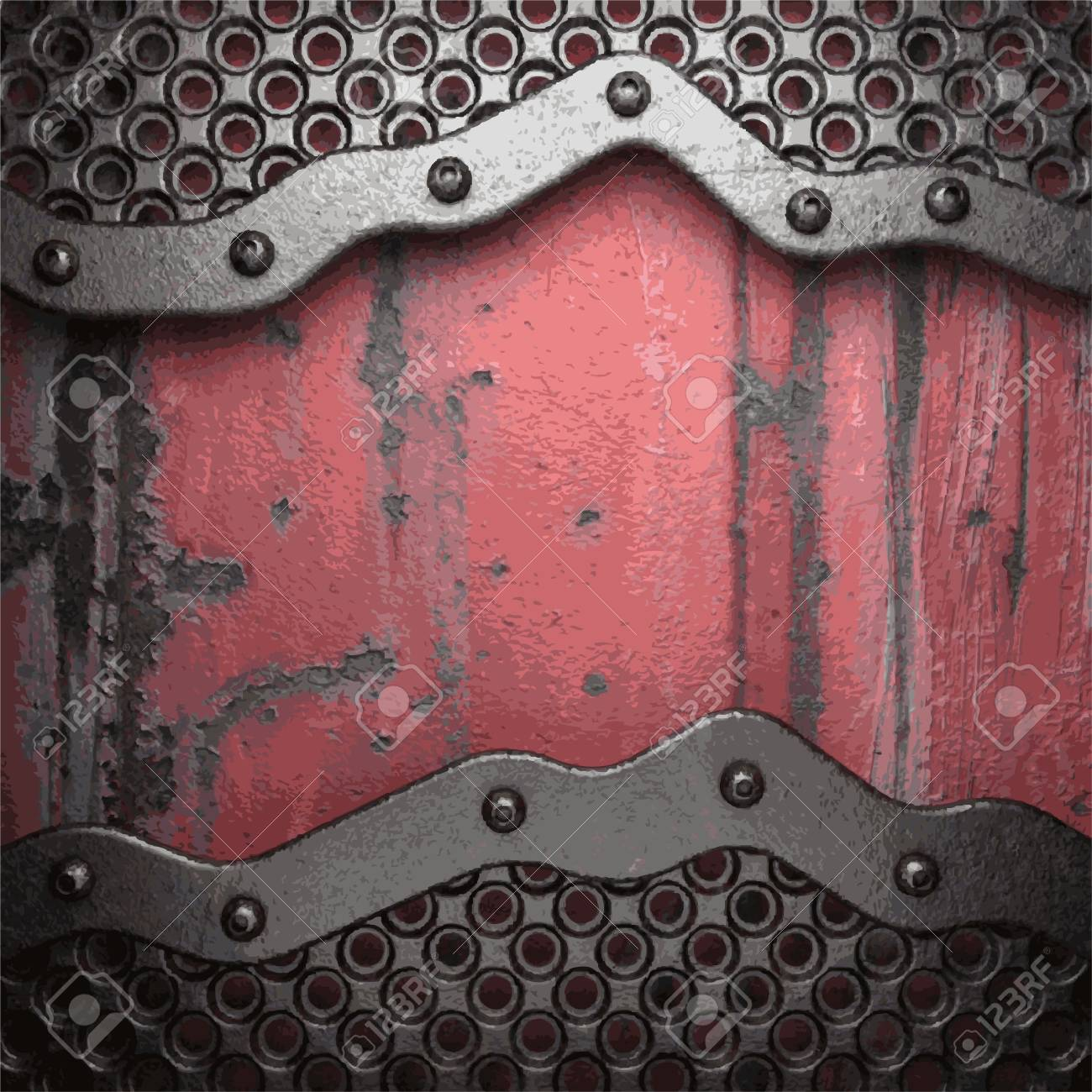 Old metal background Stock Vector - 22072784