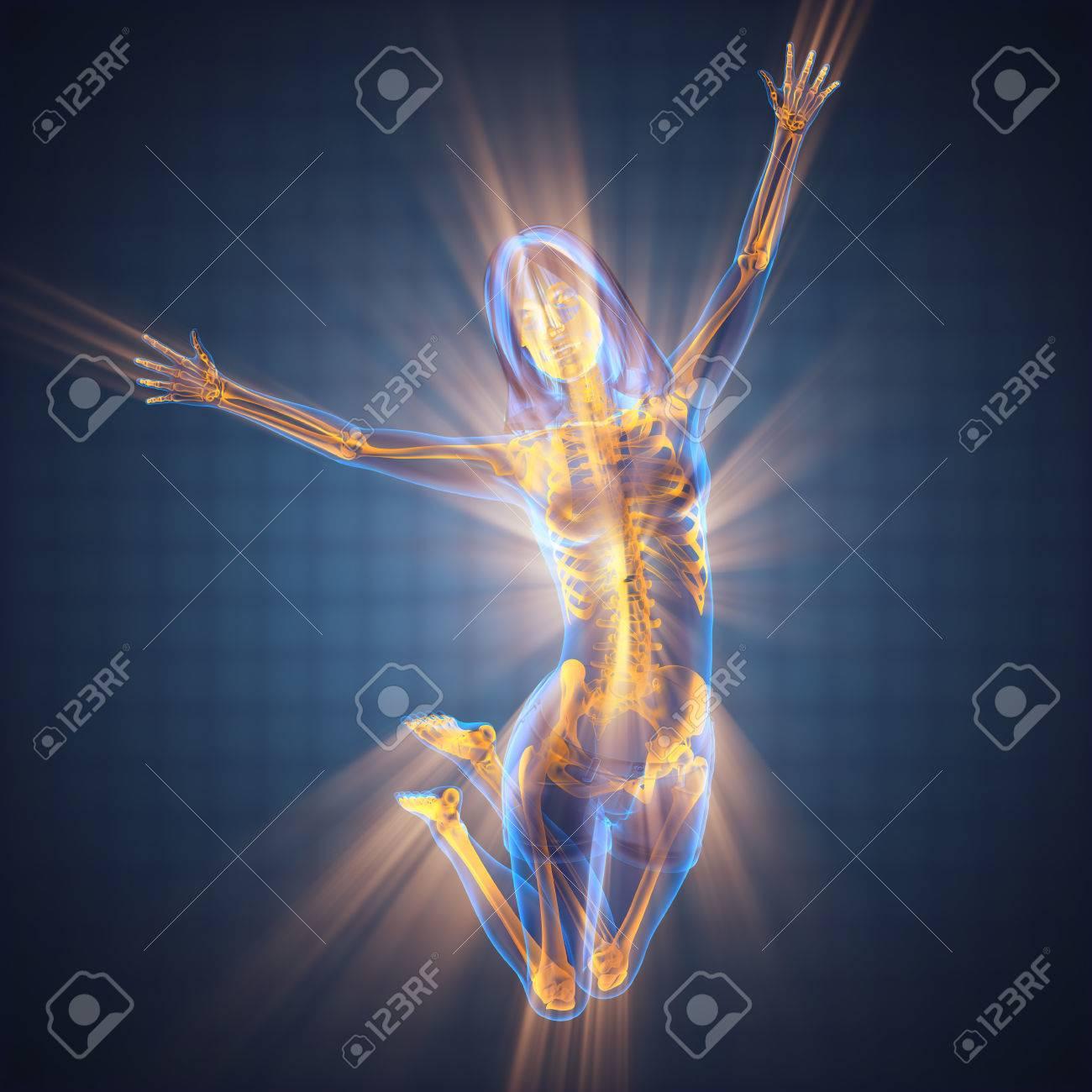 woman bones radiography scan image - 47966437
