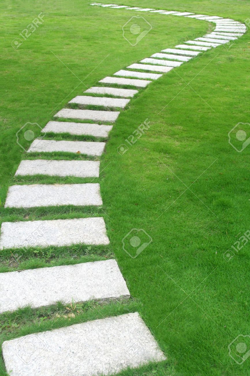 Stone walkway in garden royalty free stock photo image 34535795 - Stone Walkway Images Stock Pictures Royalty Free Stone Walkway