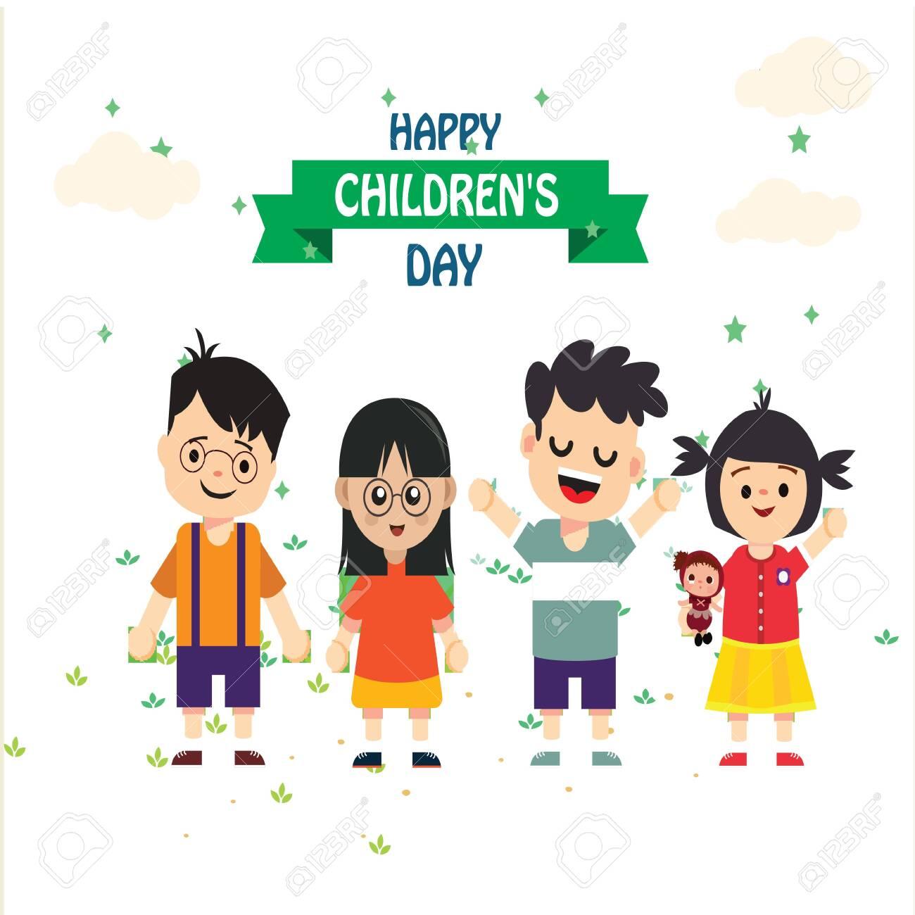 Premium Vector | Happy children's day