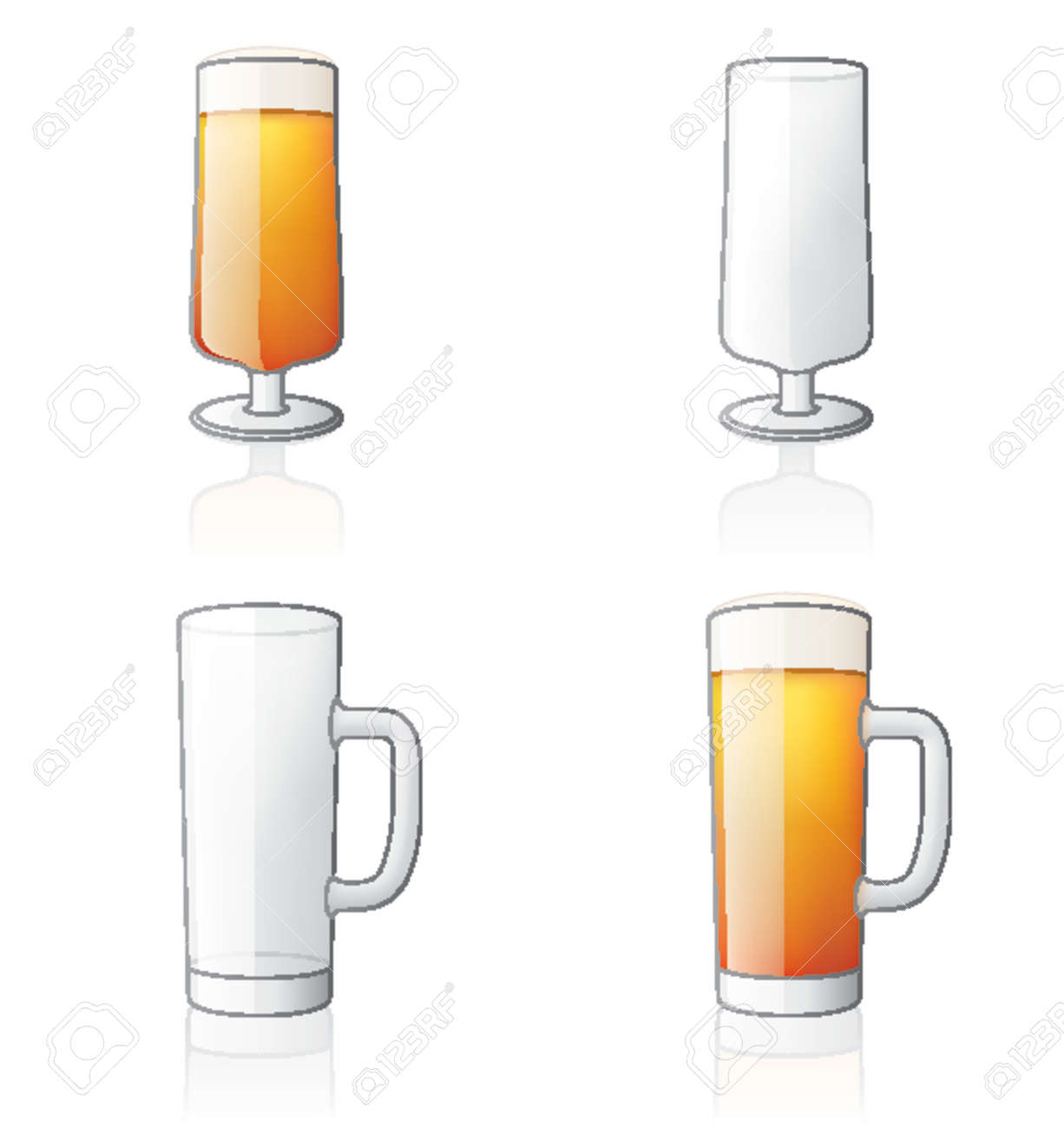Glass Icon Set 60e, it's specially designed with a web designers in mind to achieve PIN SHARP ICONS ON A SCREEN. Stock Vector - 964265