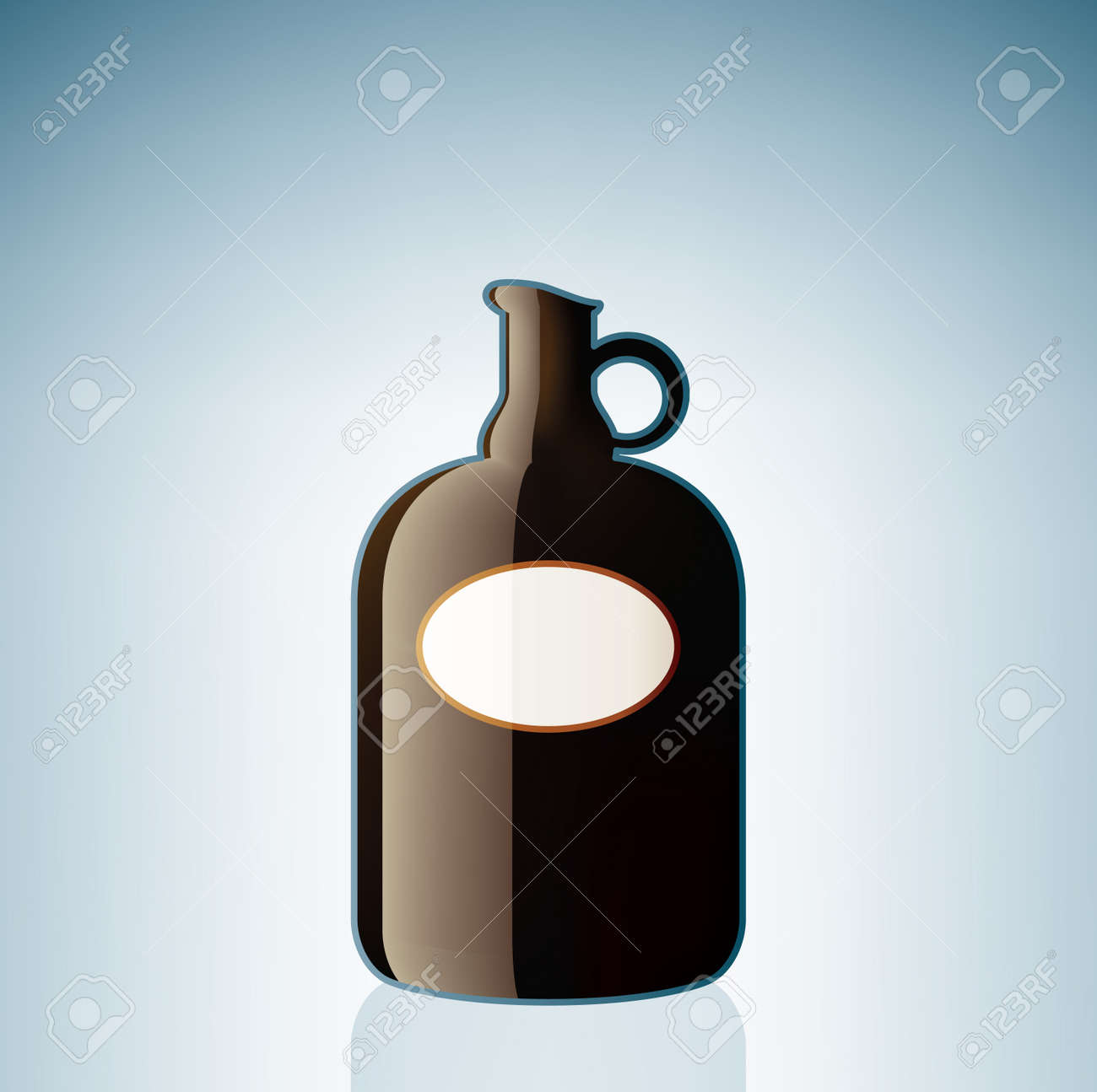 Brown Wine Bottle (part of the Alcohol Glass Icons Set) Stock Vector - 7247341