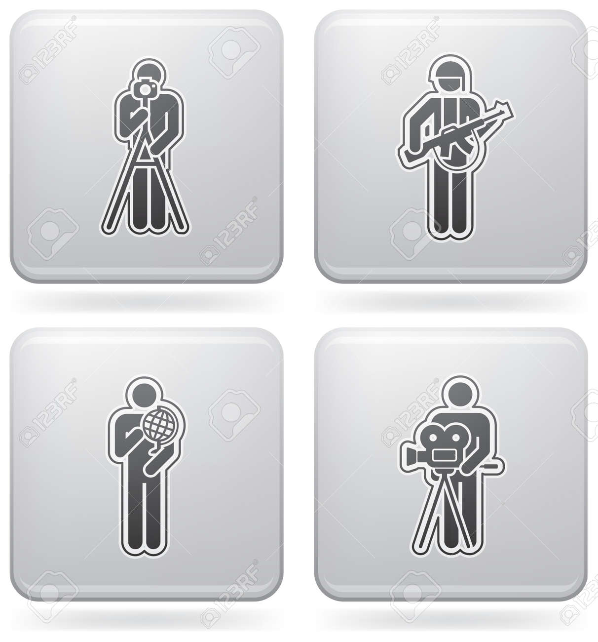 Mans Occupation Set Stock Vector - 7481350