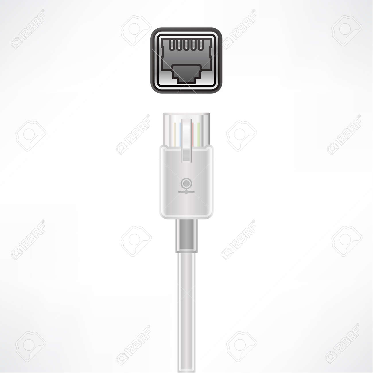 LAN plug socket Stock Vector - 10273179