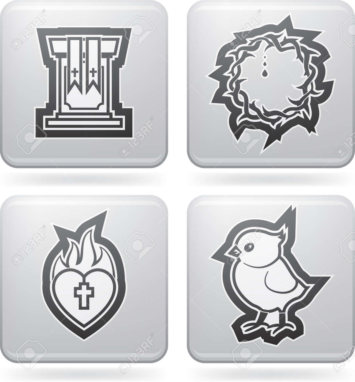 Icons And Symbols Of The Christian Easter Royalty Free Cliparts