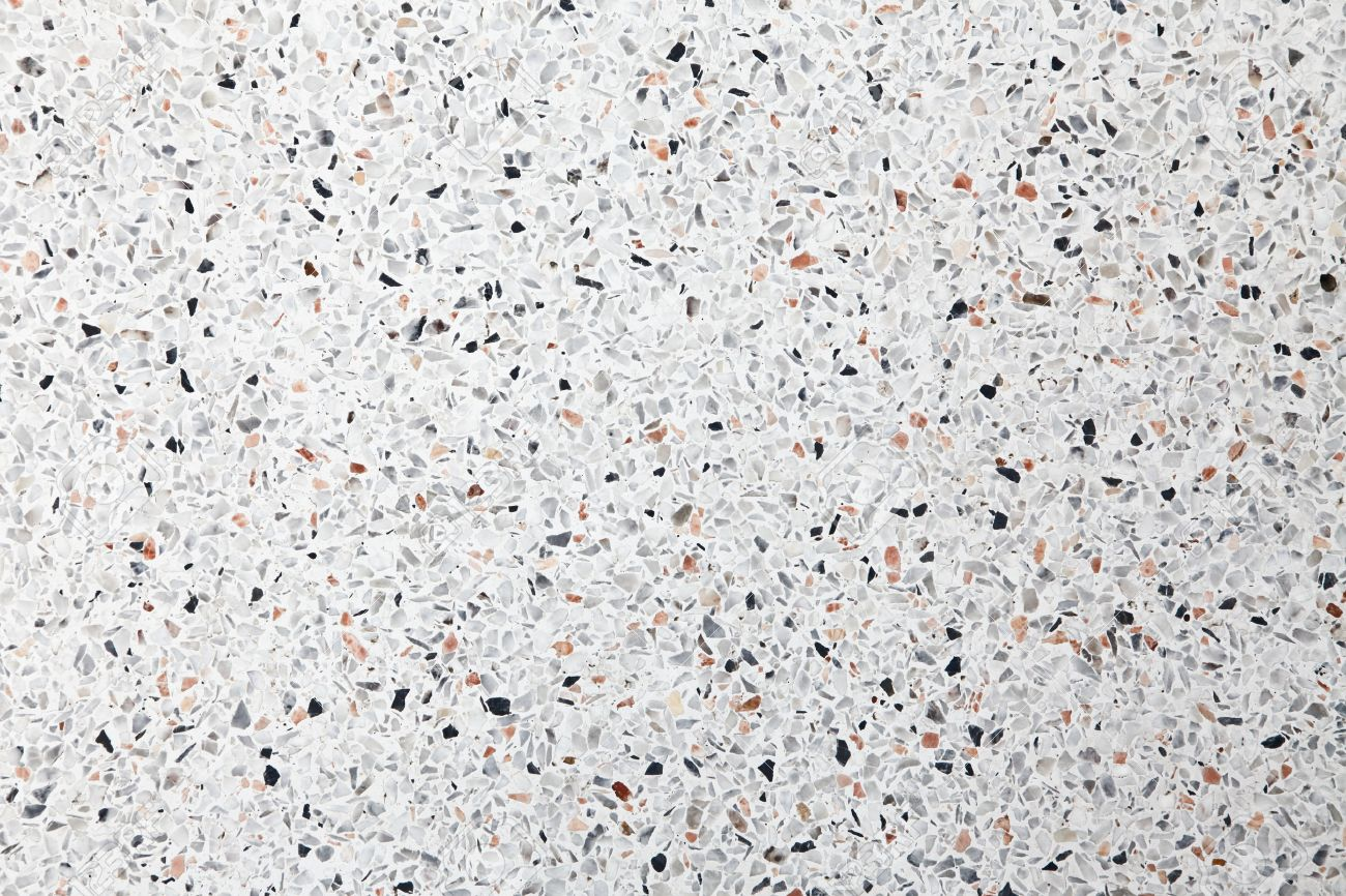 White Terrazzo Floor Background Stock Photo Picture And Royalty