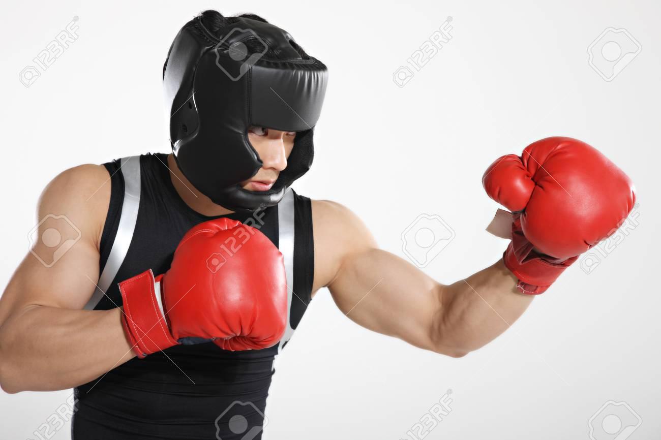 Portrait of male boxer Stock Photo - 16141792