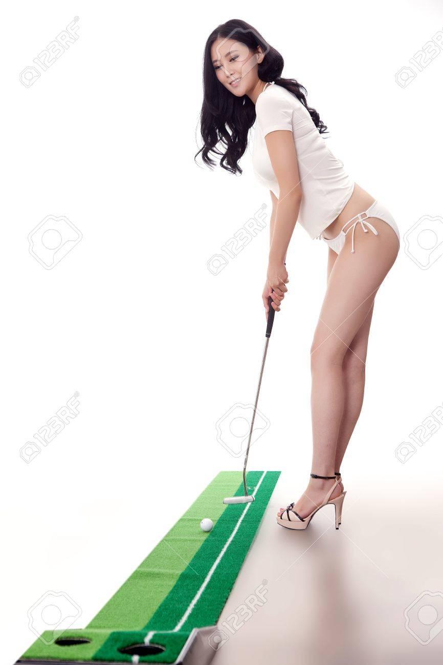 Sexy golfing Stock Photo - 16622269