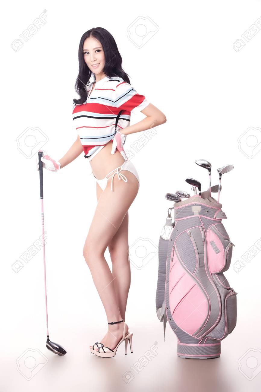 Sexy golfing Stock Photo - 16622267