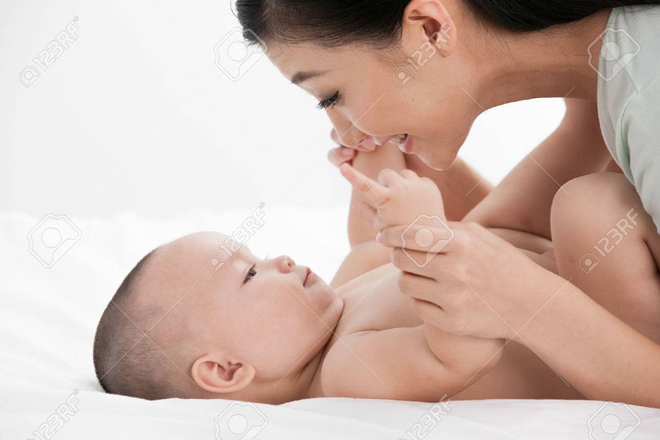 mother and baby Stock Photo - 30131597