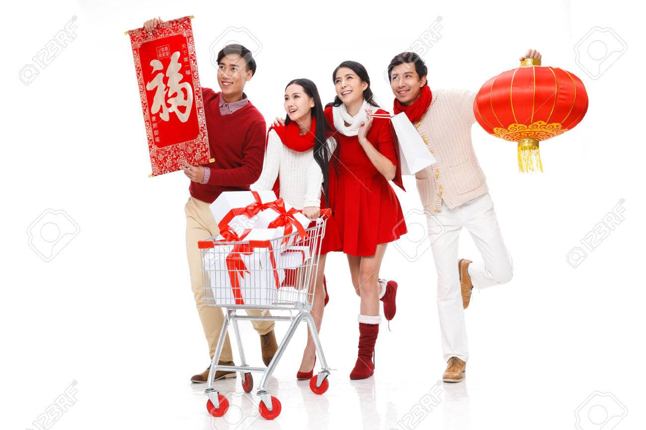 Young people in Spring Festive Stock Photo - 33202447