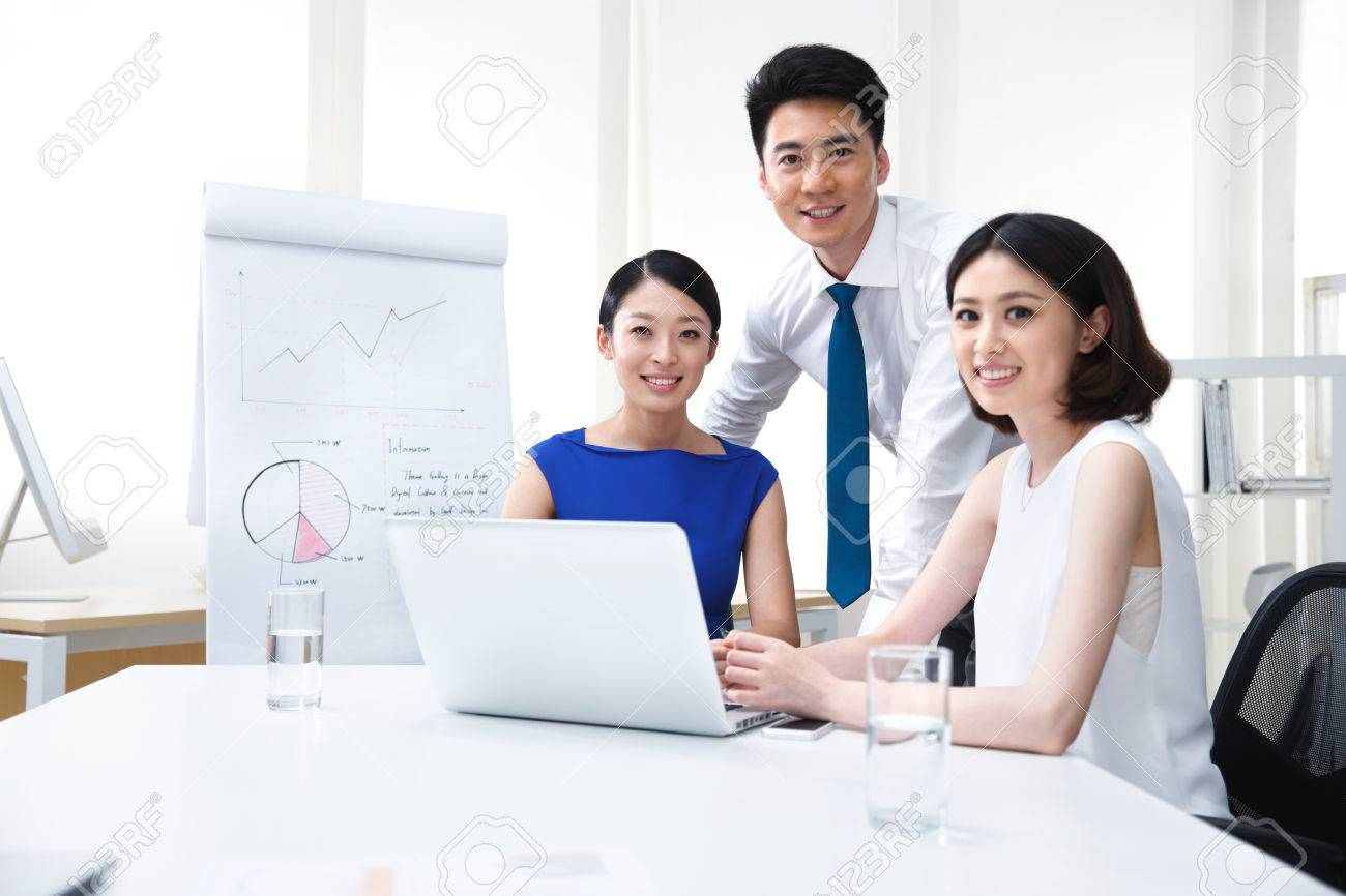 Young business people Stock Photo - 34602873