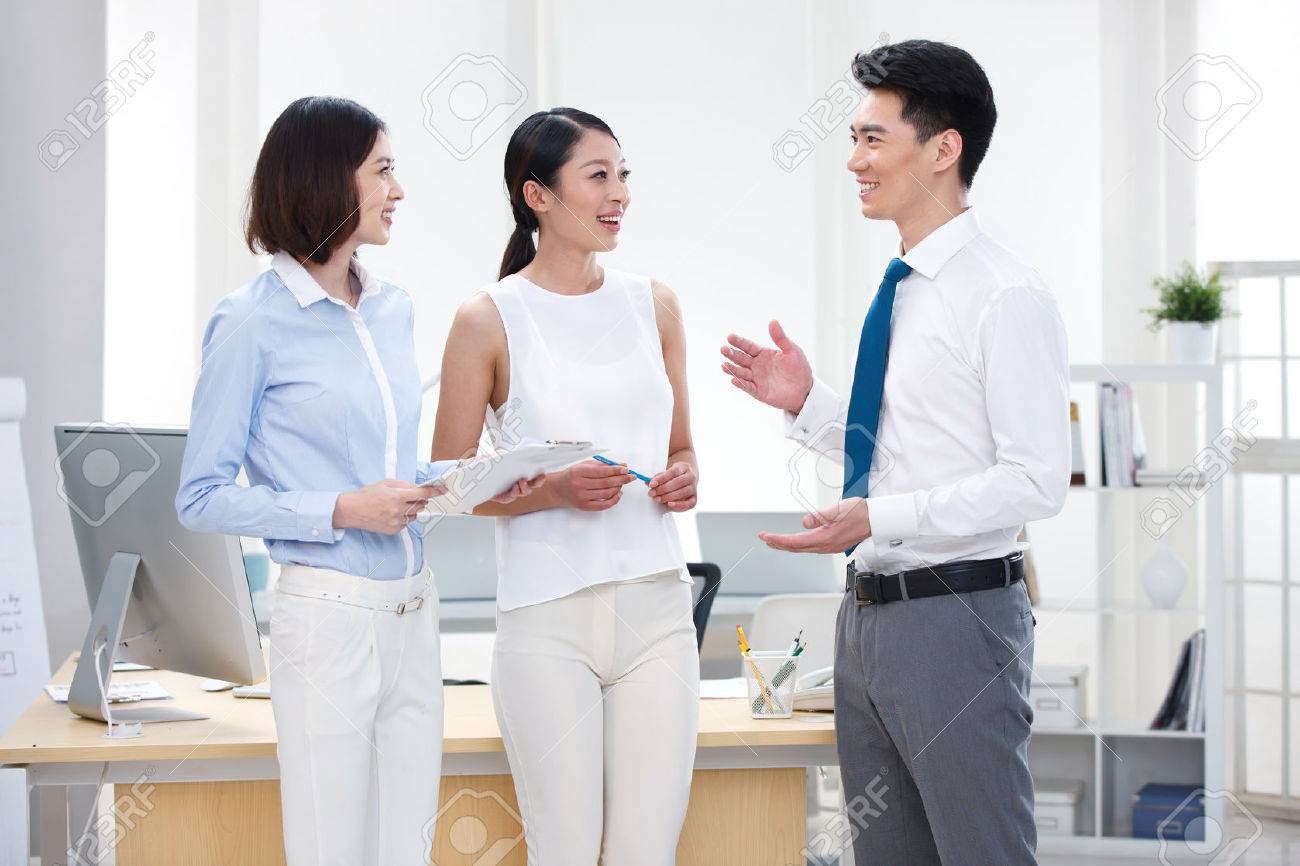 Young business people Stock Photo - 34602945