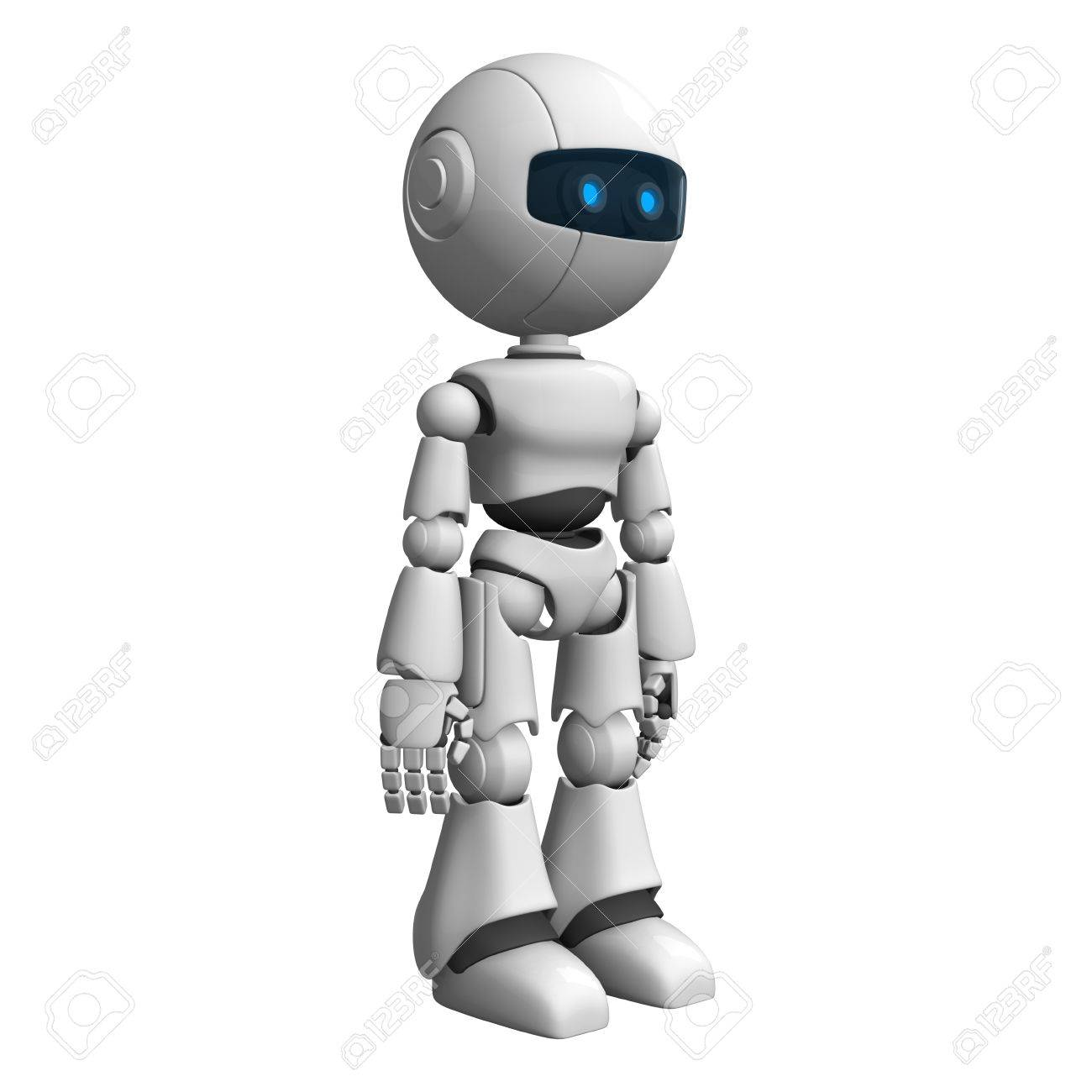 Funny robot stay and look Stock Photo - 10065361