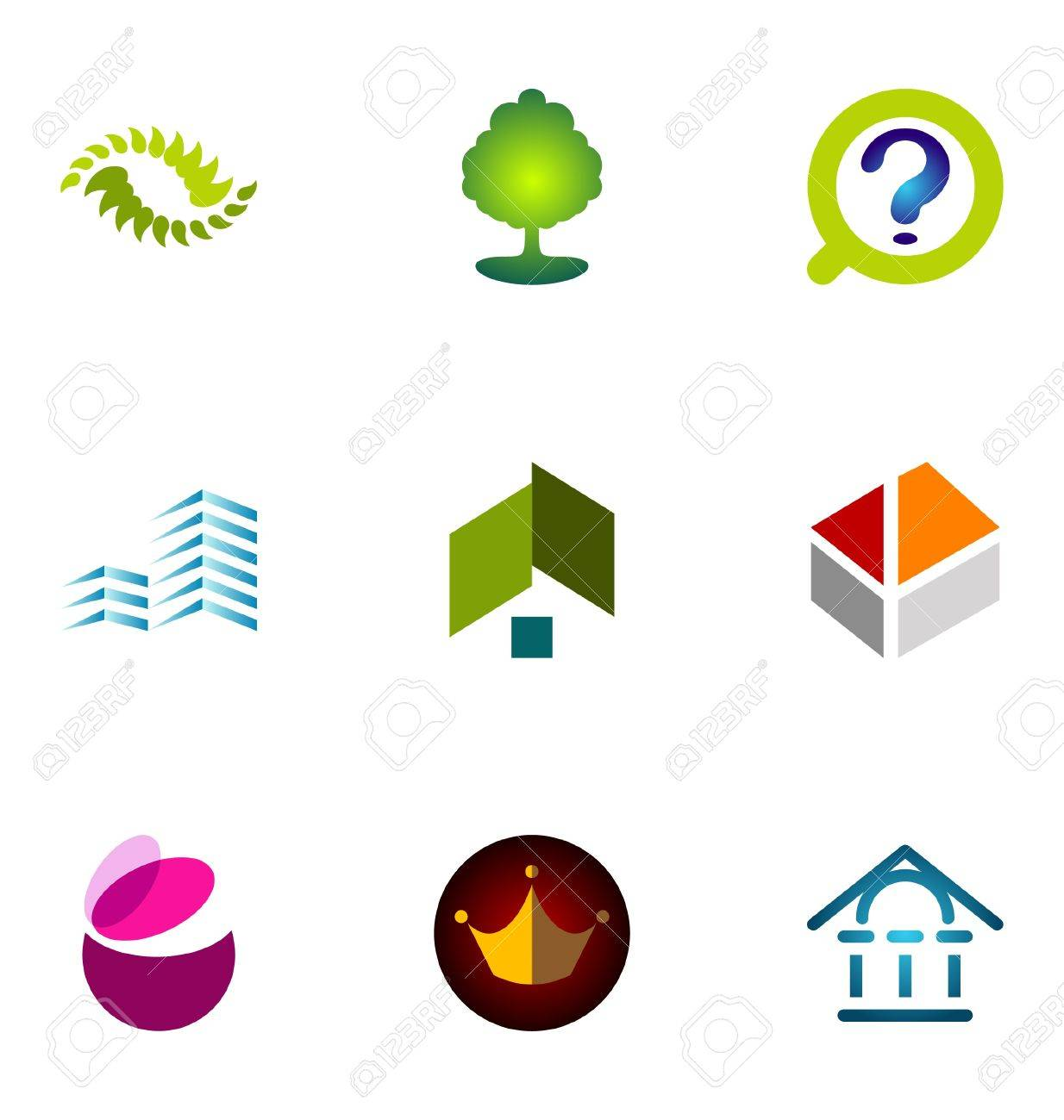 Logo design elements set 11 Stock Vector - 10042534