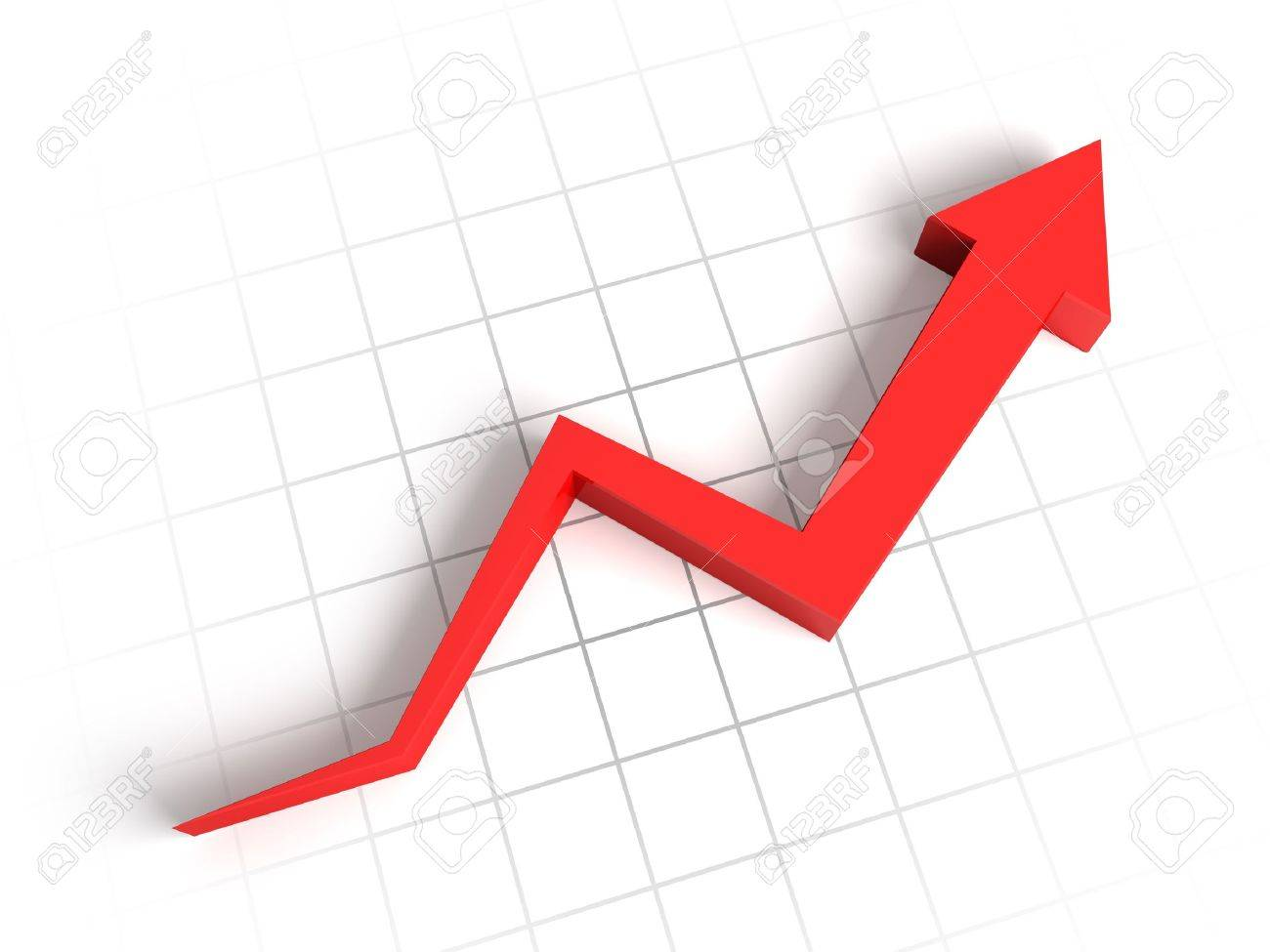 Red arrow graph Stock Photo - 10098215