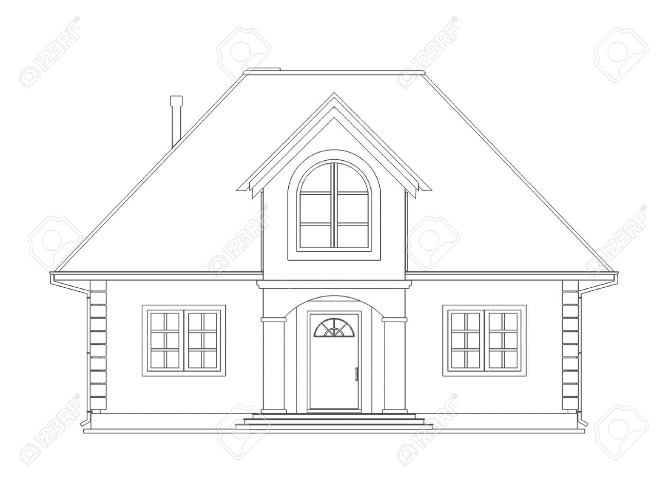 House Technical Draw Stock Photo Picture And Royalty Free Image