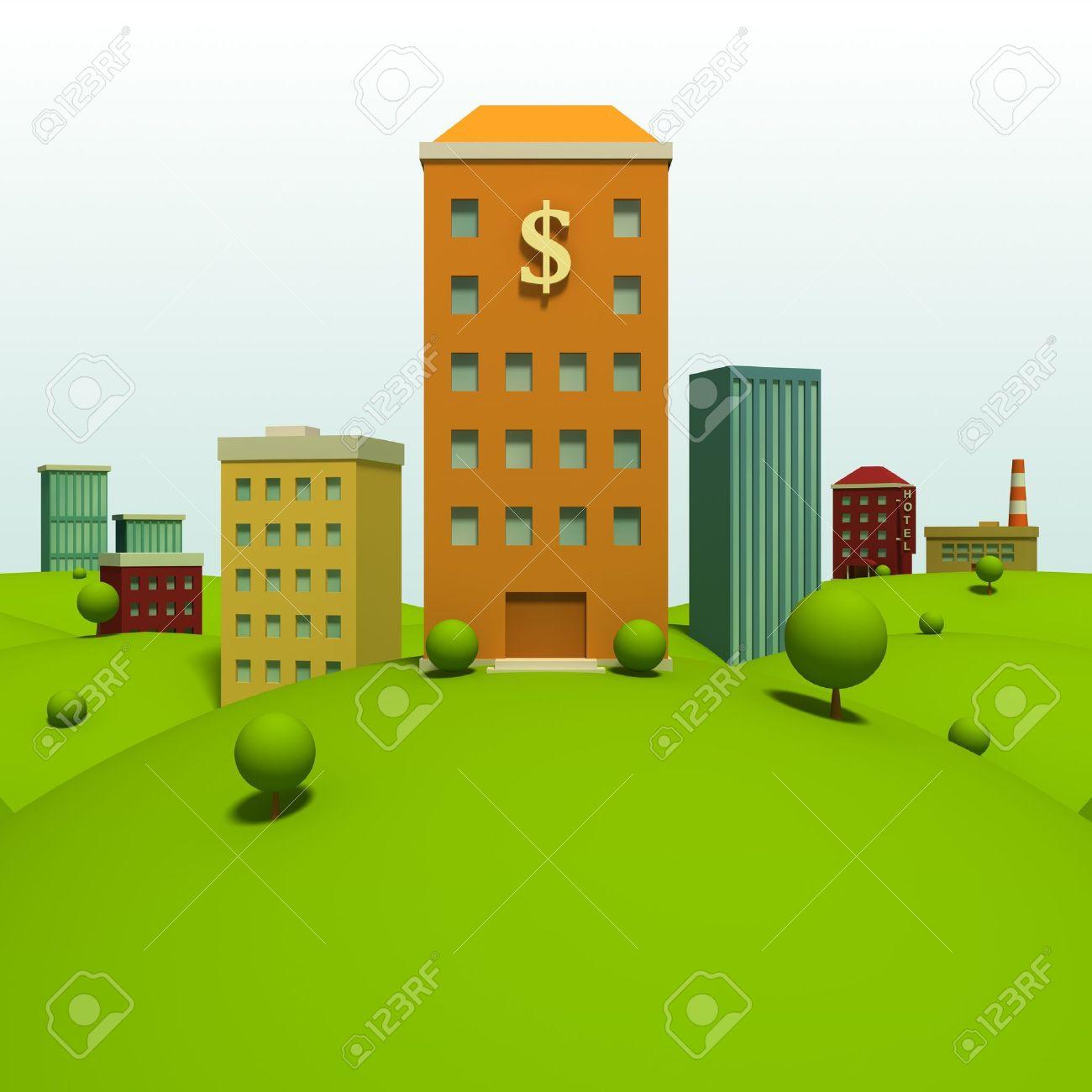 Bancos Dibujos Animados Dibujos Animados Con Banco