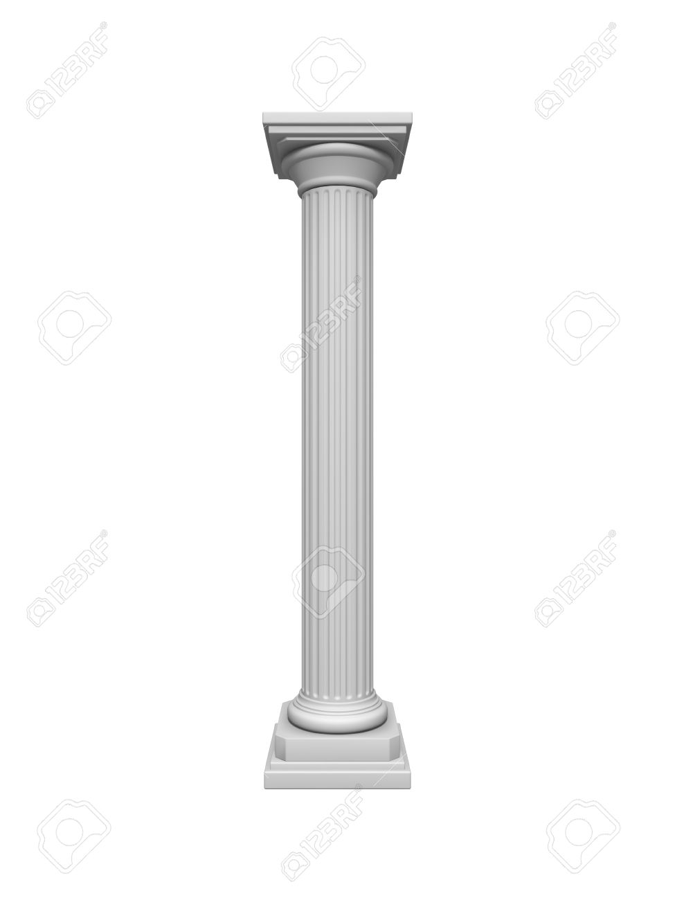 Architecture column isolated on a white Stock Photo - 10161060