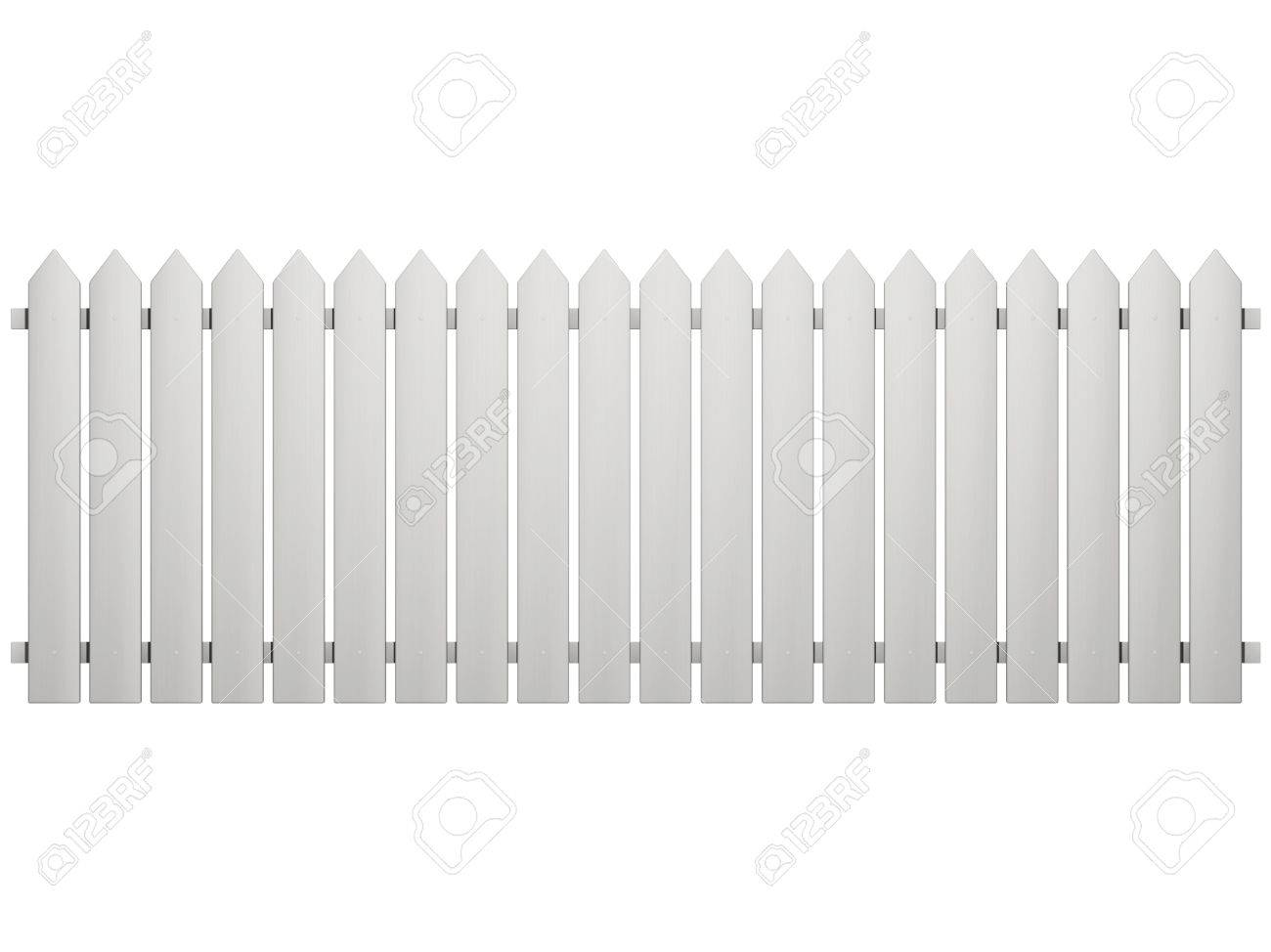 Fence isolated on a white Stock Photo - 10161937