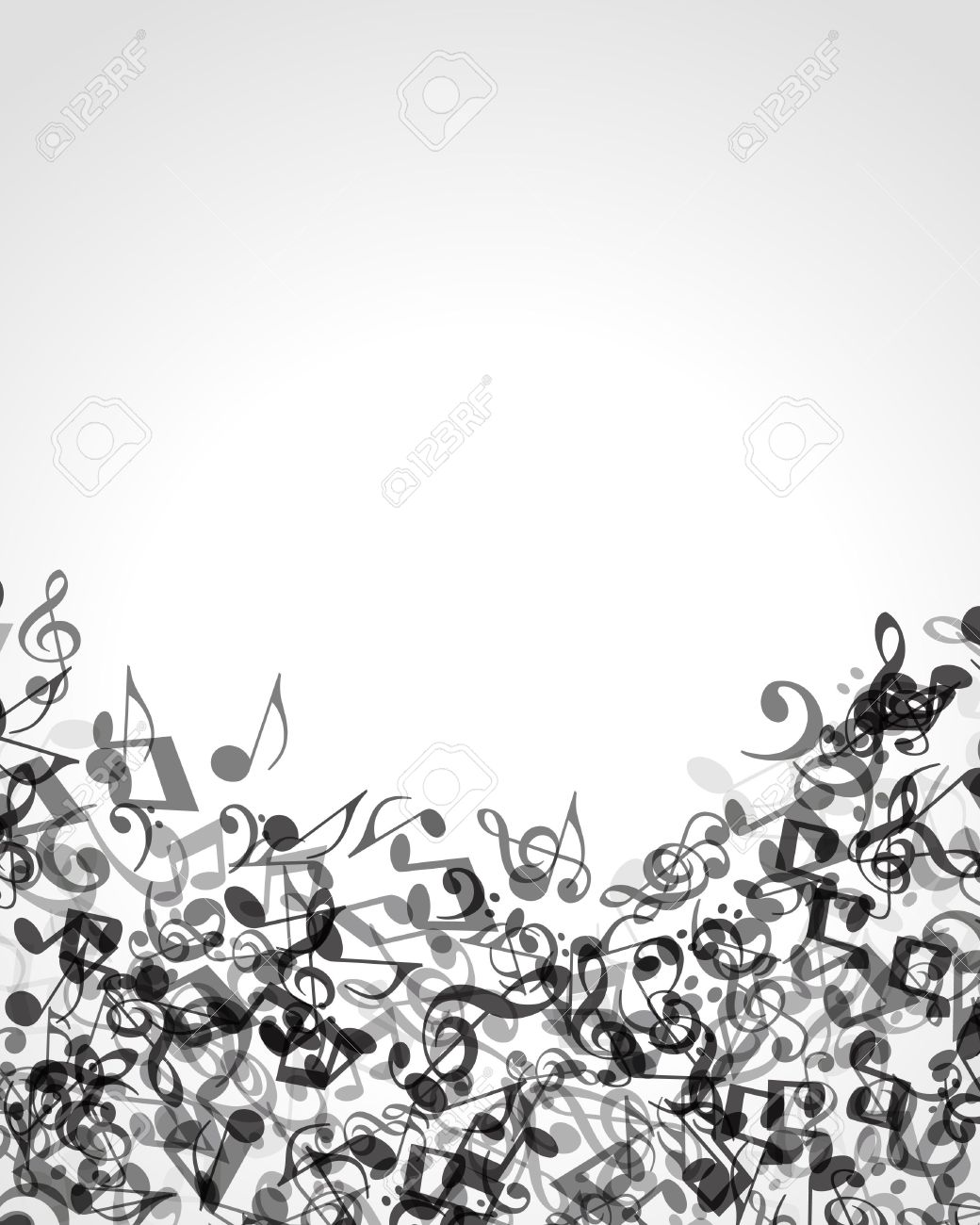 Black And White Music Notes Background Music notes vector background