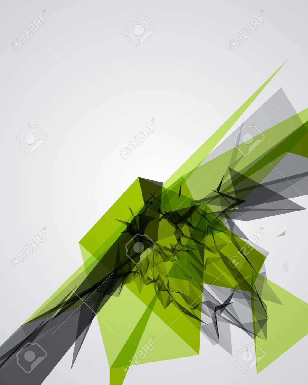 Abstract 3d geometric lines modern grunge vector background Stock Vector - 10567573