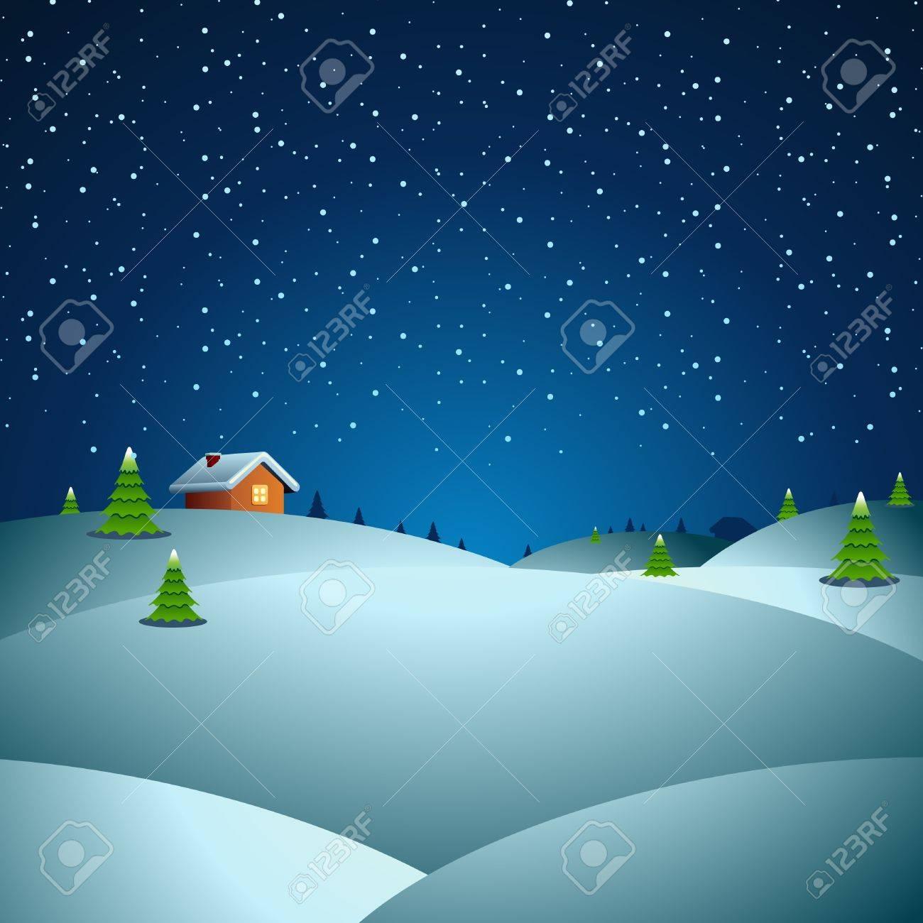 Christmas night vector background Stock Vector - 10553497
