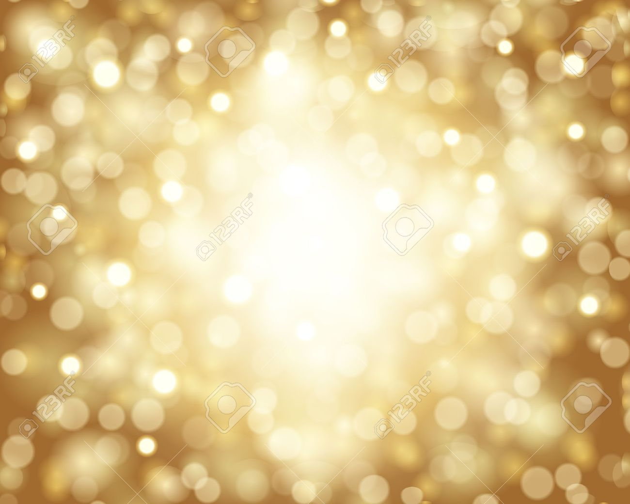 Gold Sparkles Clipart Gold Sparkle Bokeh Card