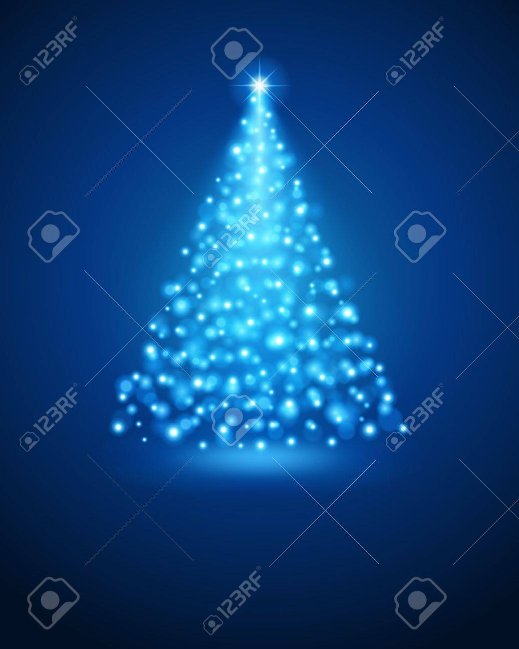 Christmas tree from light Stock Vector - 10671092