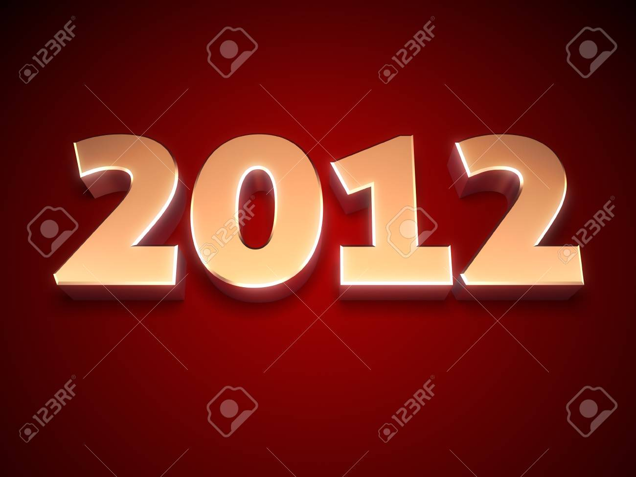 3d Happy New Year 2012 message Stock Photo - 10964808