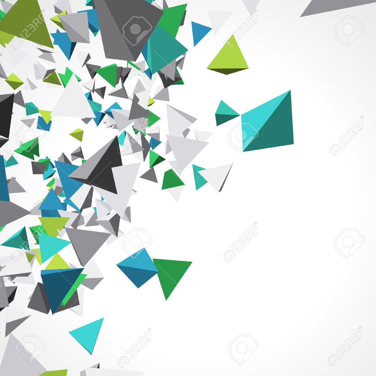 Pics photos 3d colorful abstract background design - Fly Colorful 3d Pyramids Background Stock Vector 10964734