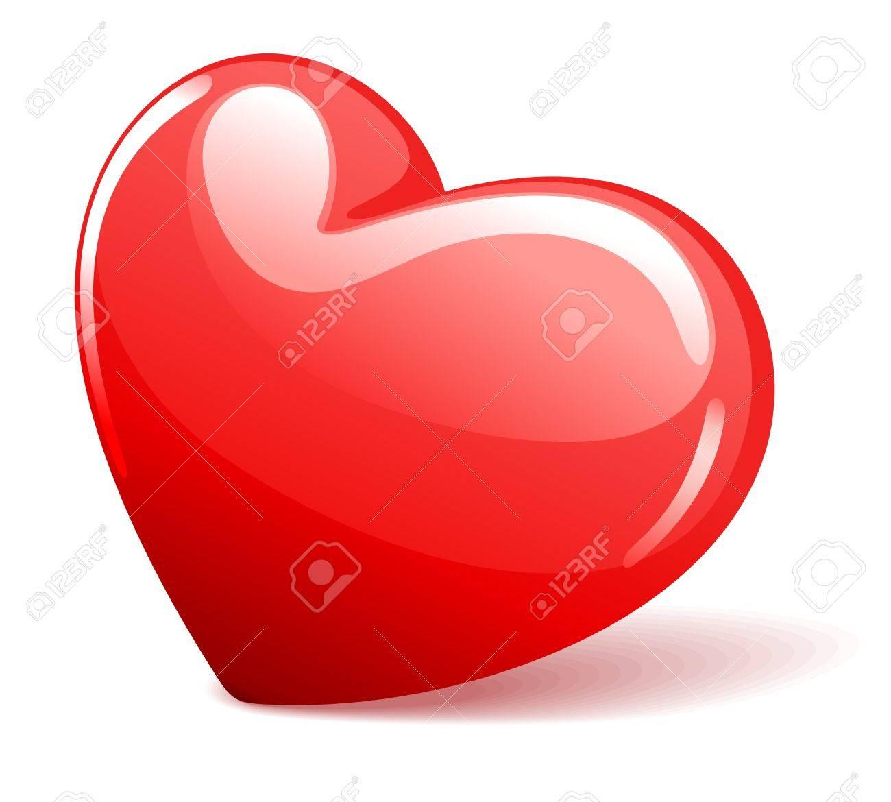 Red heart illustration Stock Vector - 11324343
