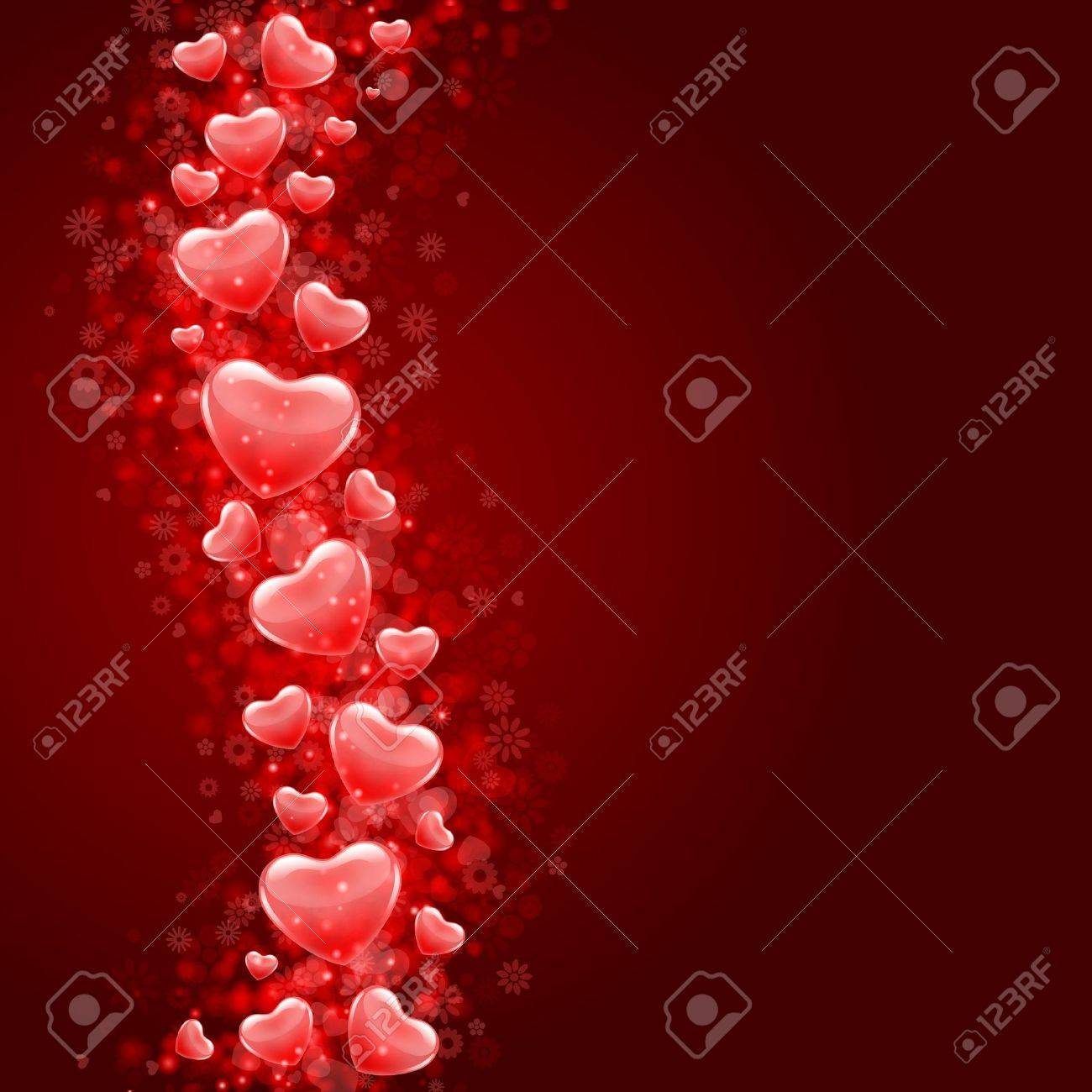 Hearts fly vector background Stock Vector - 11895334
