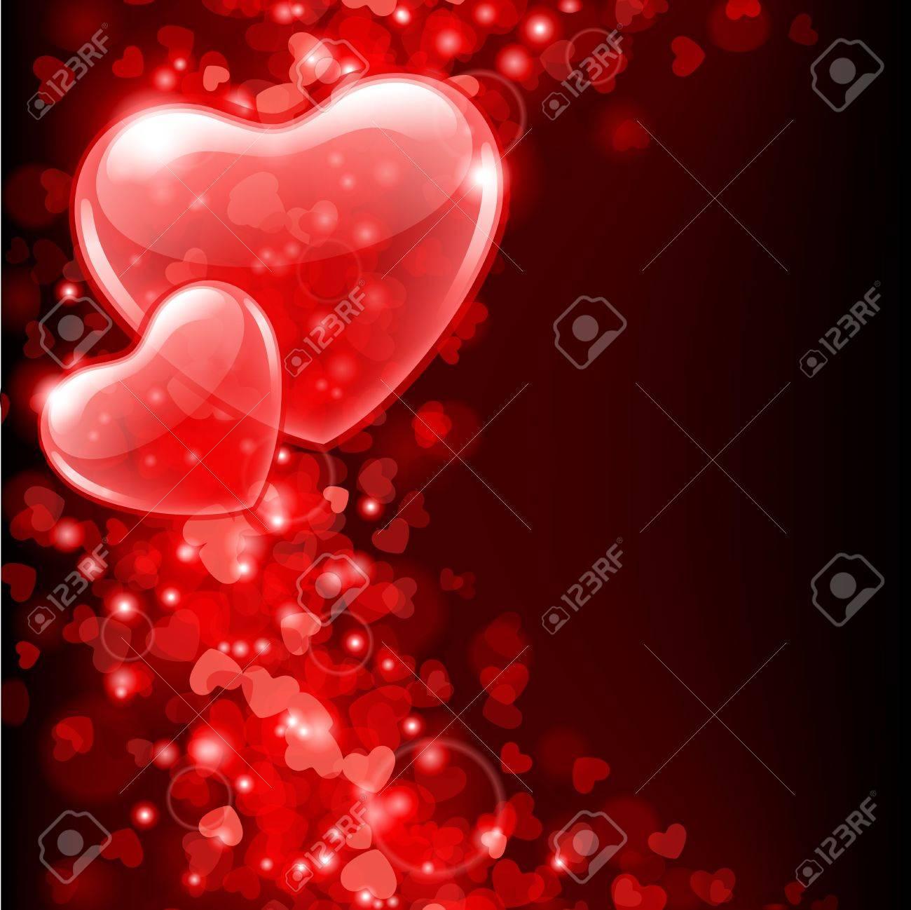 11895591-De-fond-valentine-vecteur-jours-avec-des-coeurs-abstraits-Banque-d'images