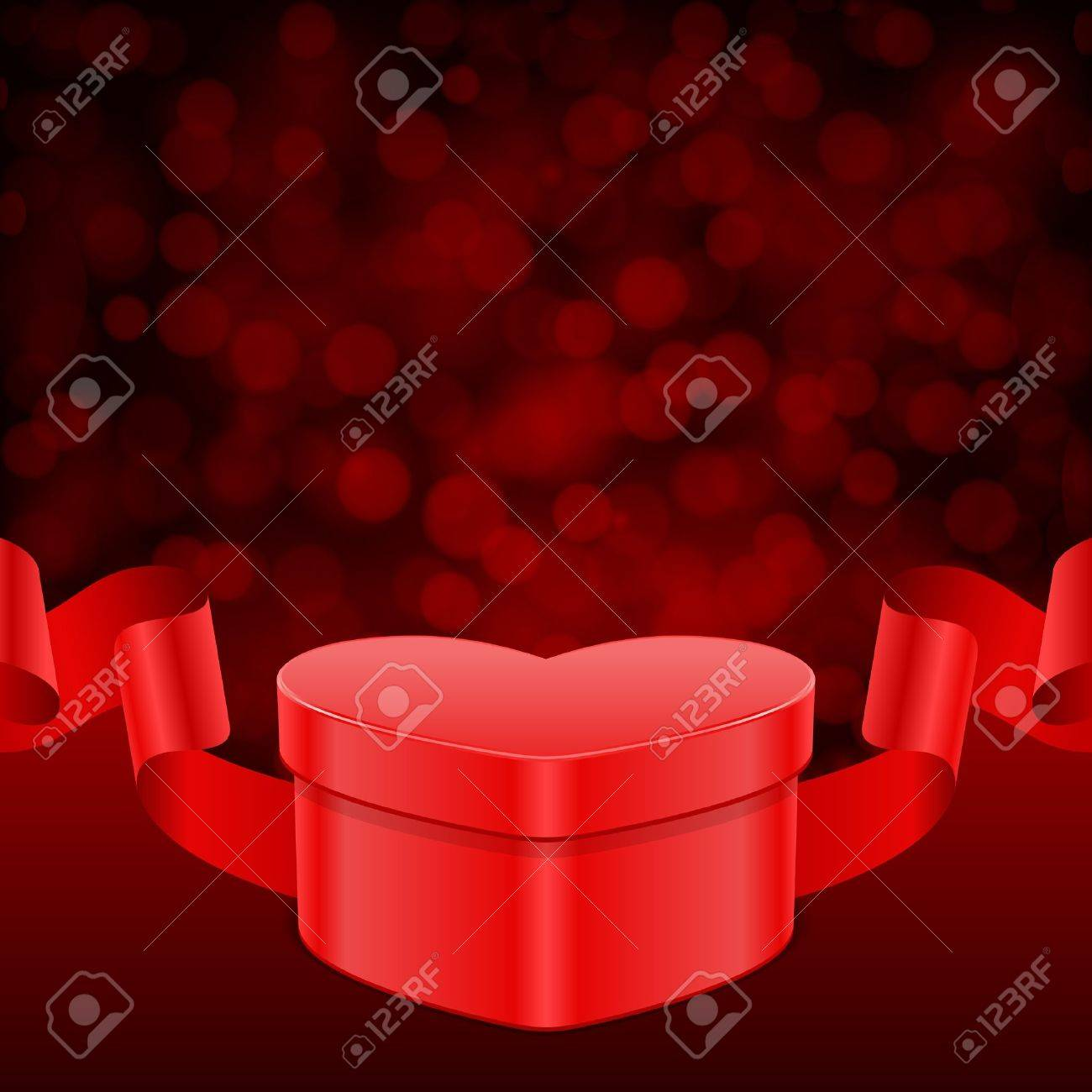 Valentine day vector background gift heart with ribbon and light valentine day vector background gift heart with ribbon and light 11895639 negle Gallery