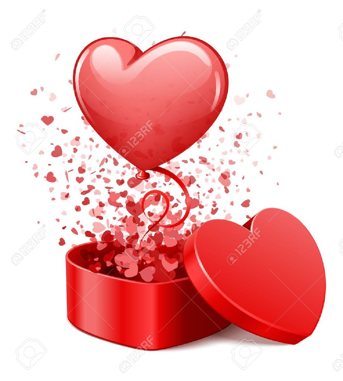 Image Avec Des Coeur présente cadeau coeur avec des coeurs et des mouches illustration