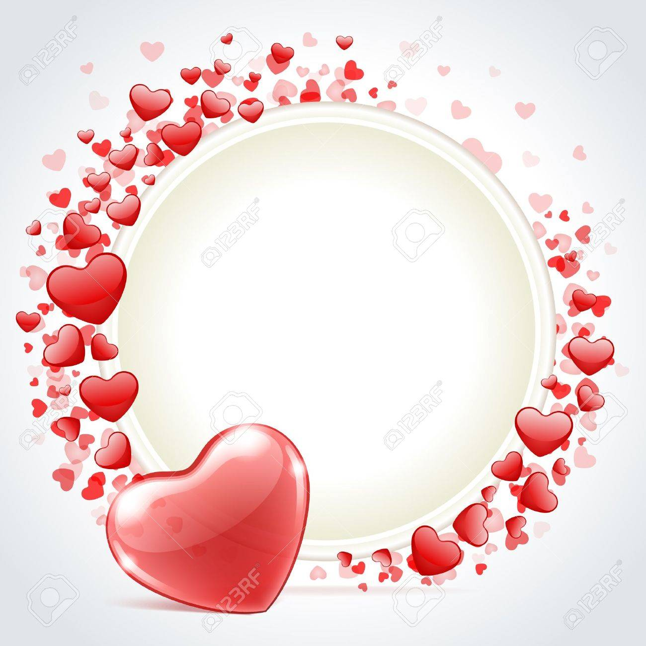 Valentine Day Vector Background With Heart Royalty Free Cliparts