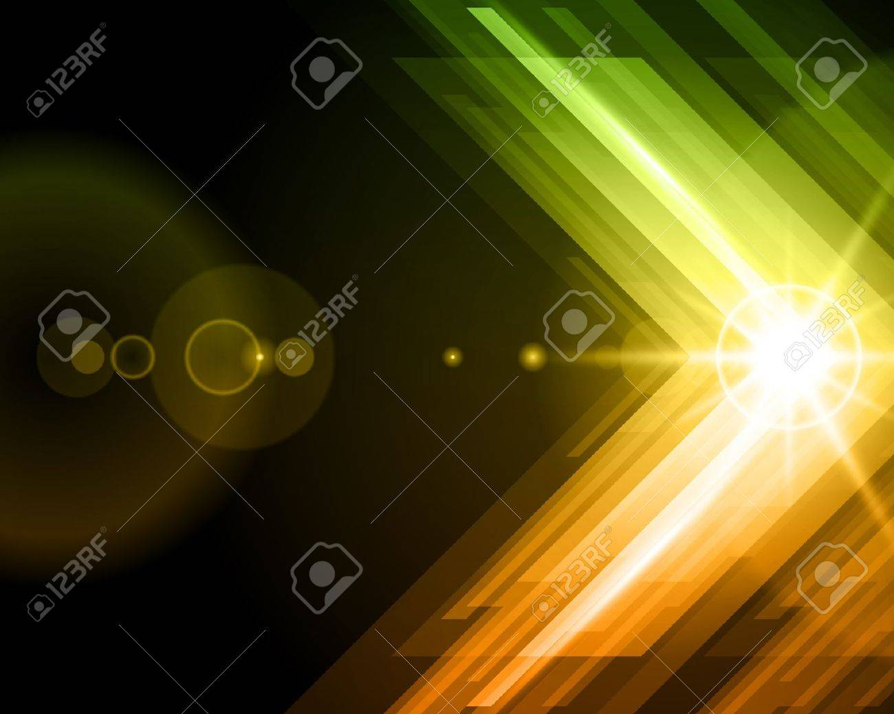 Abstract 3d technology lines with light vector background Stock Vector - 12019000