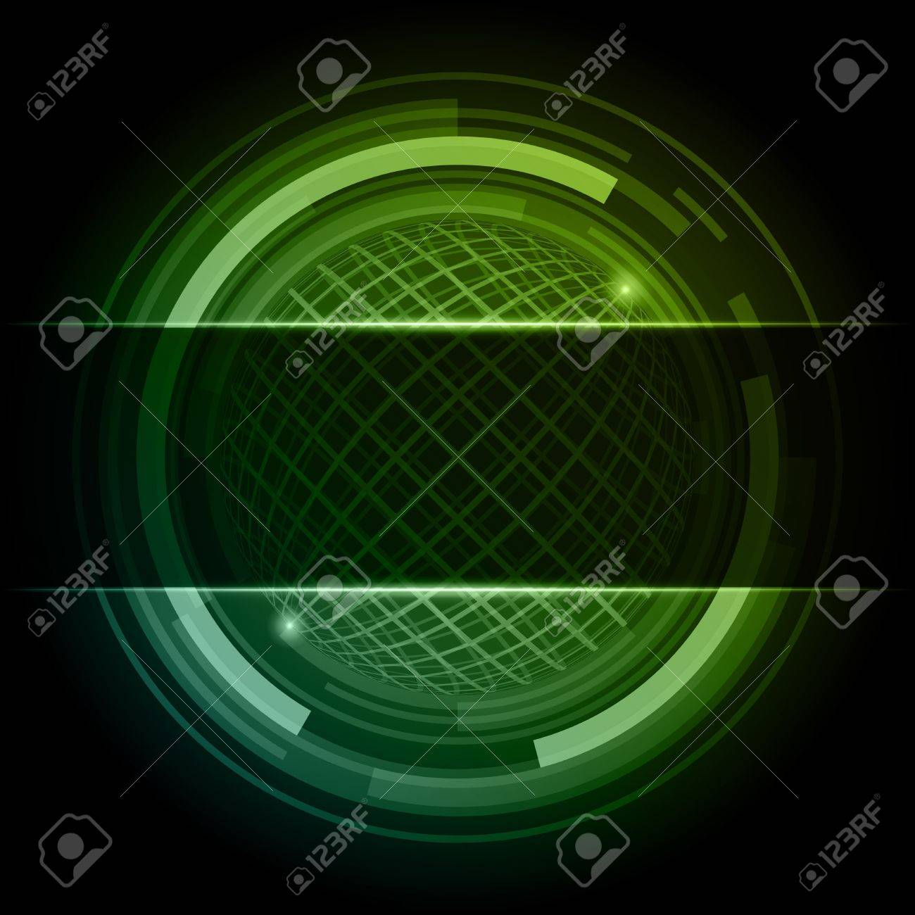 Abstract technology circles with place for text vector background Stock Vector - 12018980