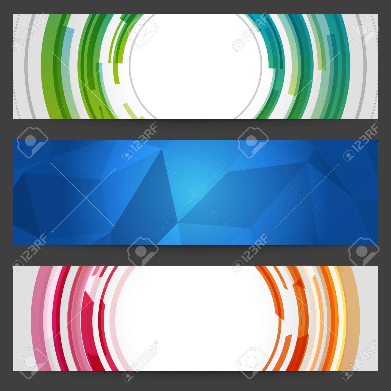 Abstract trendy vector banner or header set eps 10 Stock Vector - 13014412