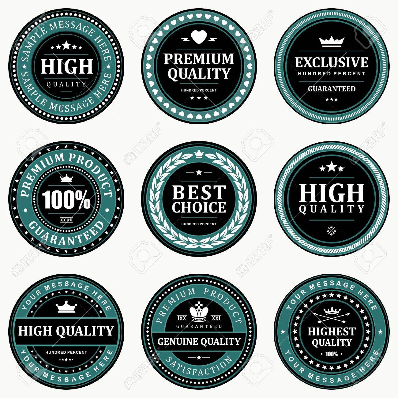Vintage labels set design elements Stock Vector - 13500809