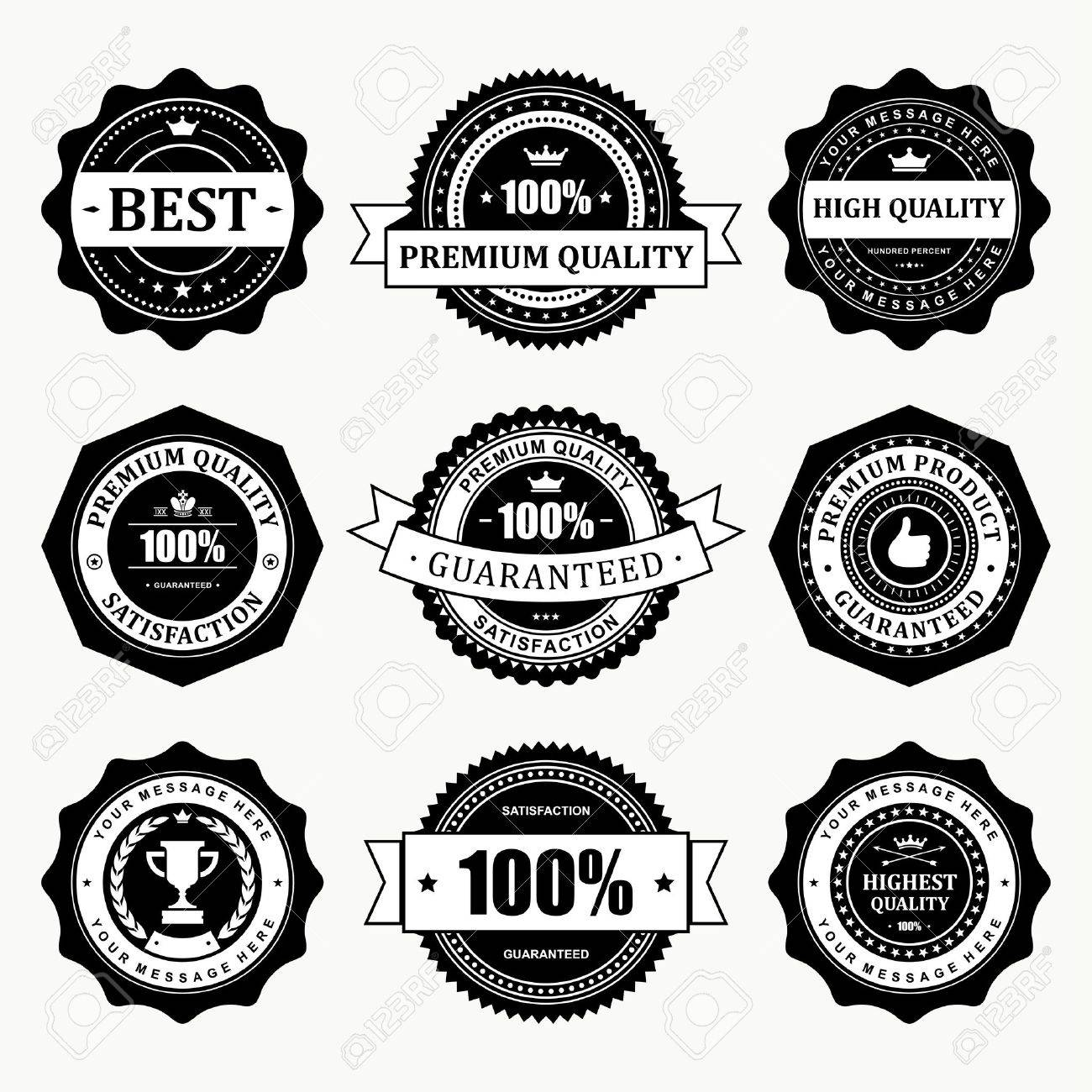 Vintage labels set  design elements Stock Vector - 13500747